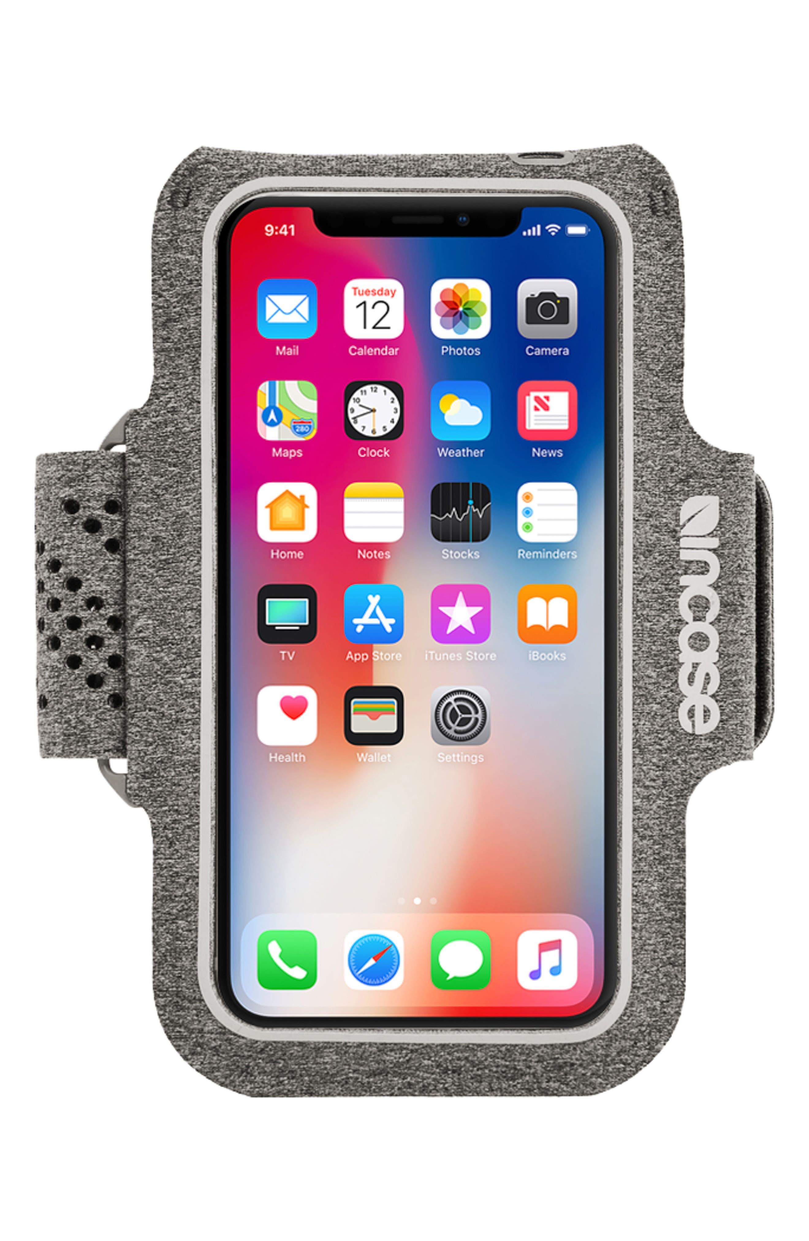 iPhone X Active Armband,                         Main,                         color, Heather Grey
