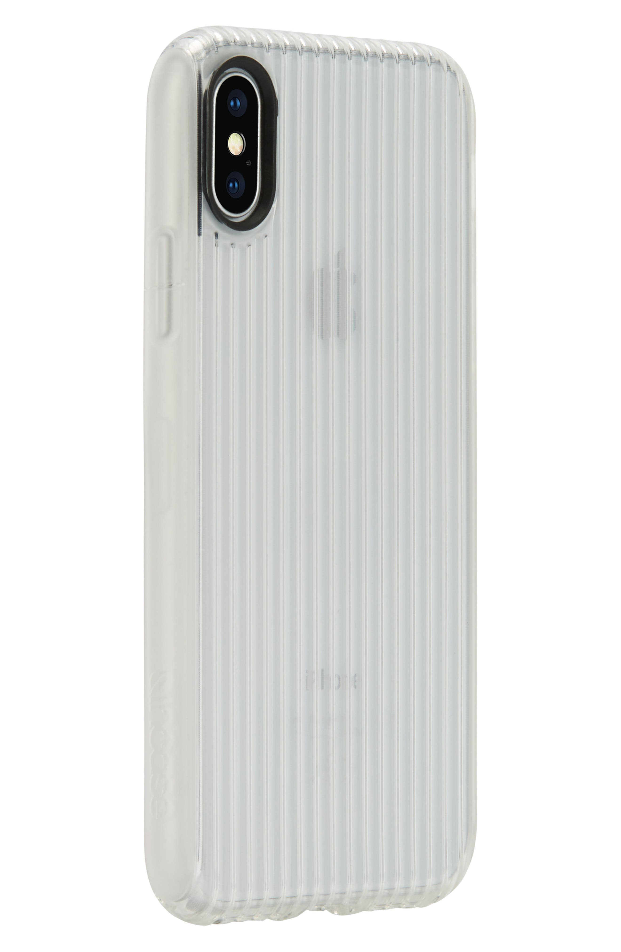 Protective iPhone X Case,                             Alternate thumbnail 3, color,                             Clear