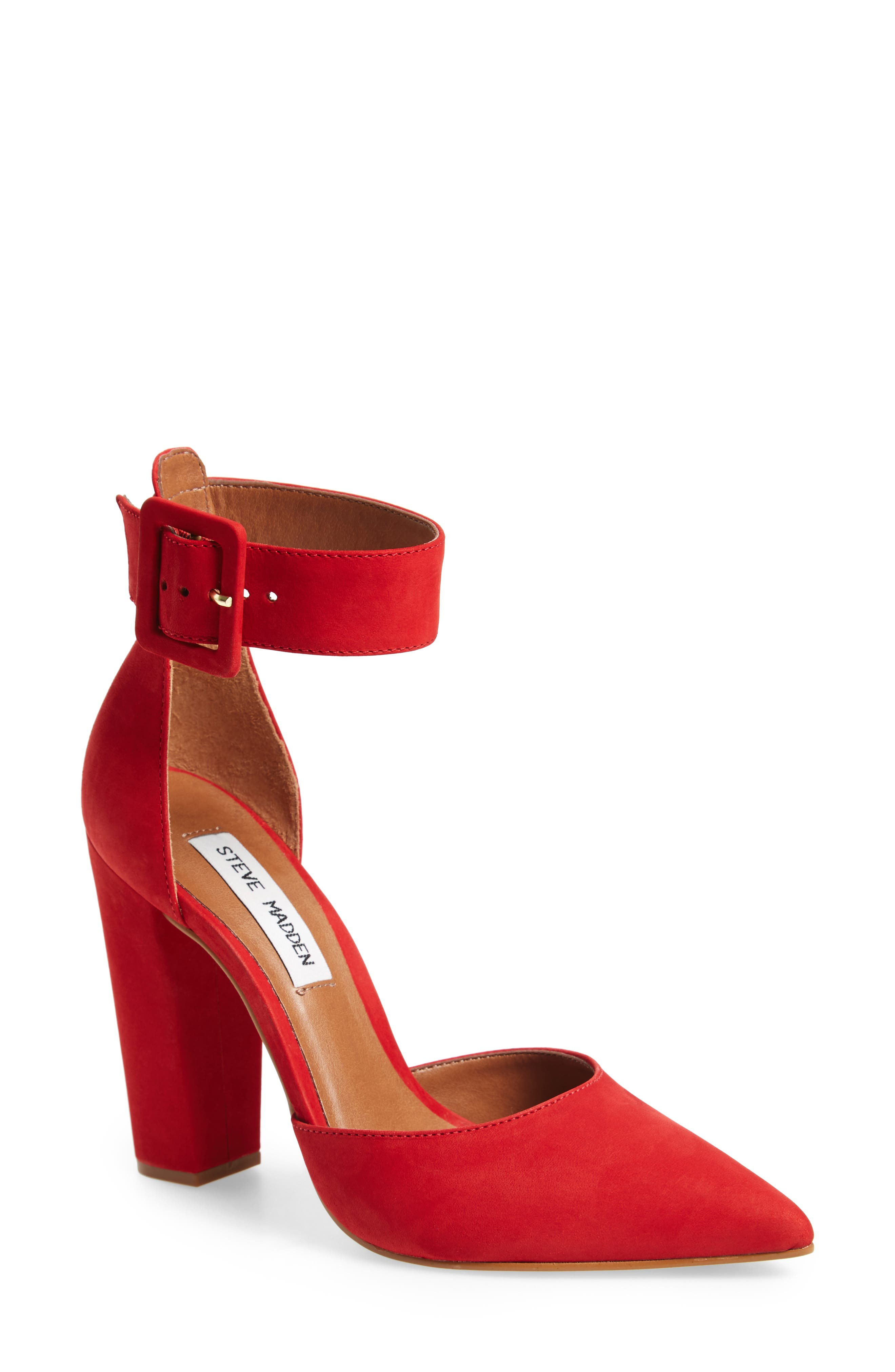 Alternate Image 1 Selected - Steve Madden Posted Ankle Strap Pump (Women)