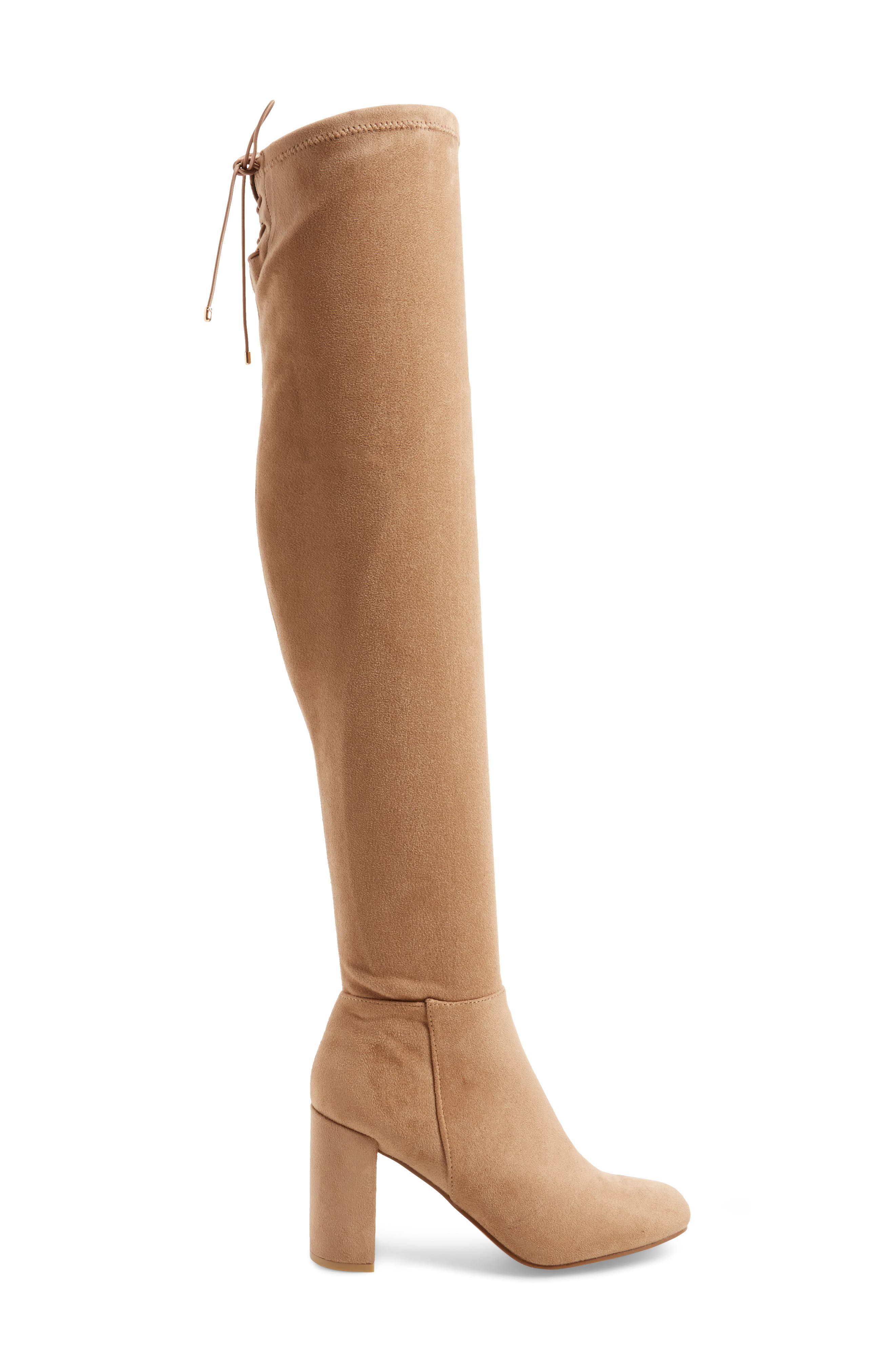Krush Over the Knee Boot,                             Alternate thumbnail 3, color,                             Mink Suede
