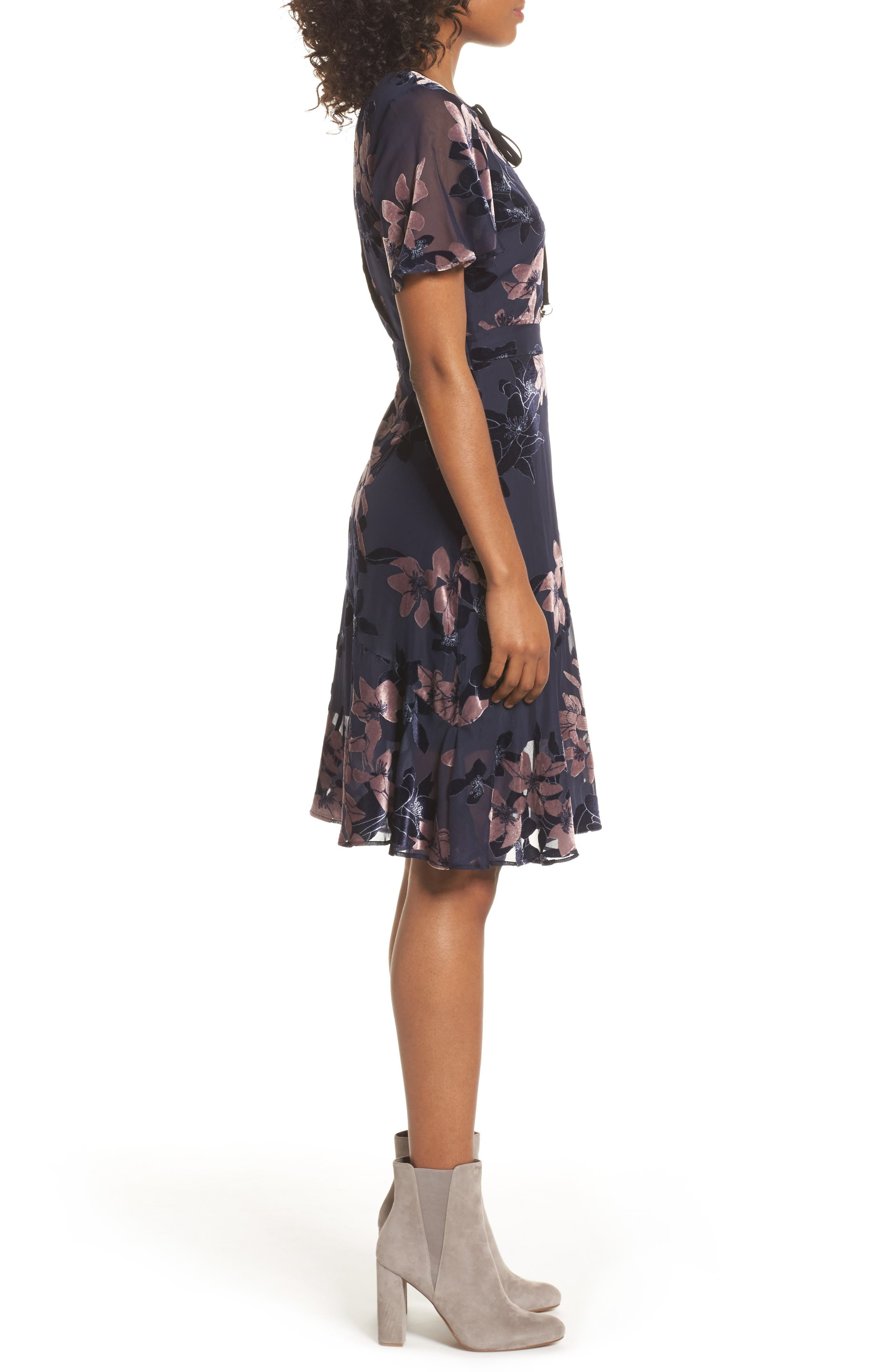 Alternate Image 3  - Sam Edelman Burnout Floral Flare Hem Dress