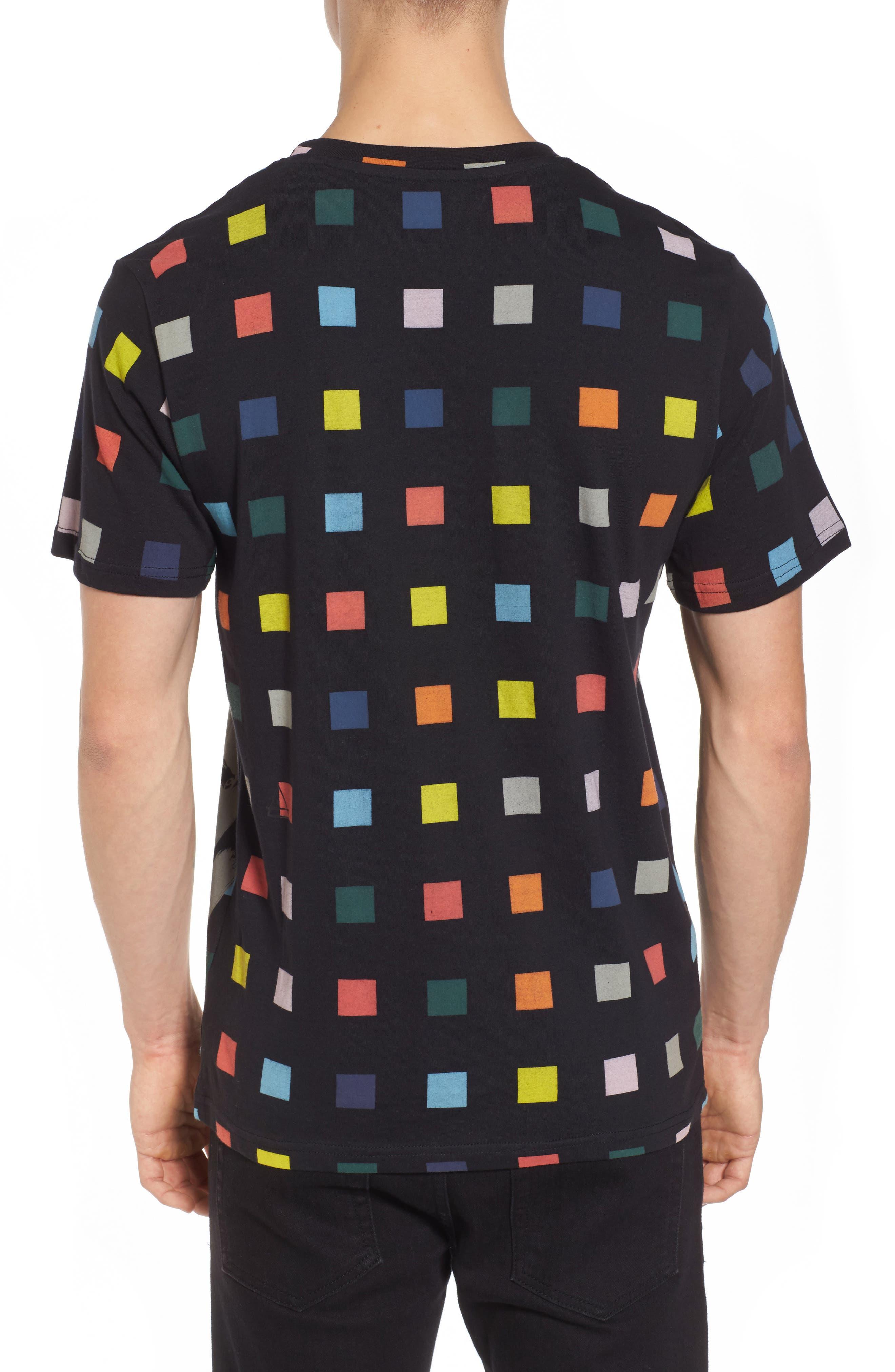 Squares T-Shirt,                             Alternate thumbnail 2, color,                             Black