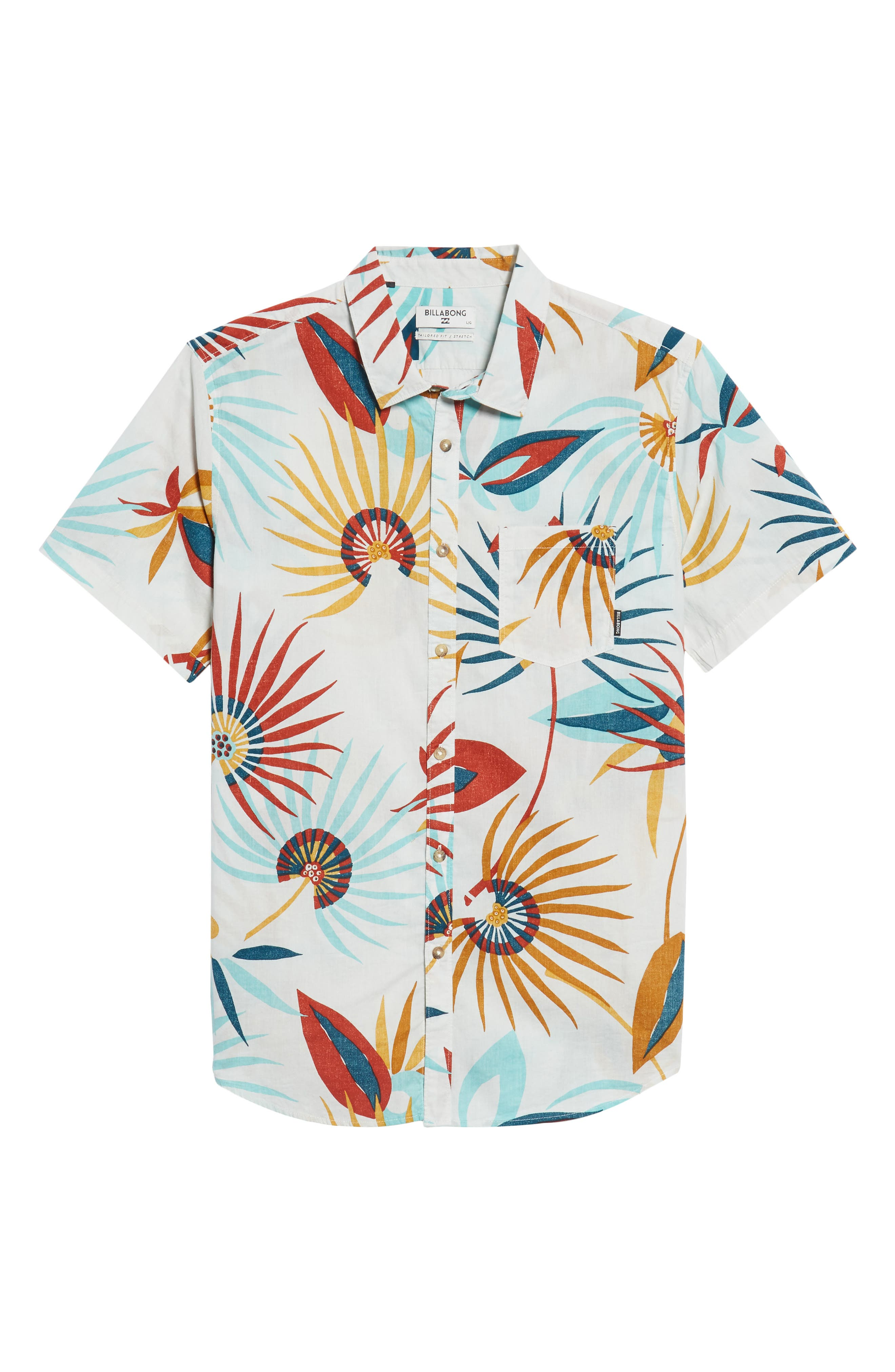 Sunday Floral Woven Shirt,                             Alternate thumbnail 5, color,                             Sand