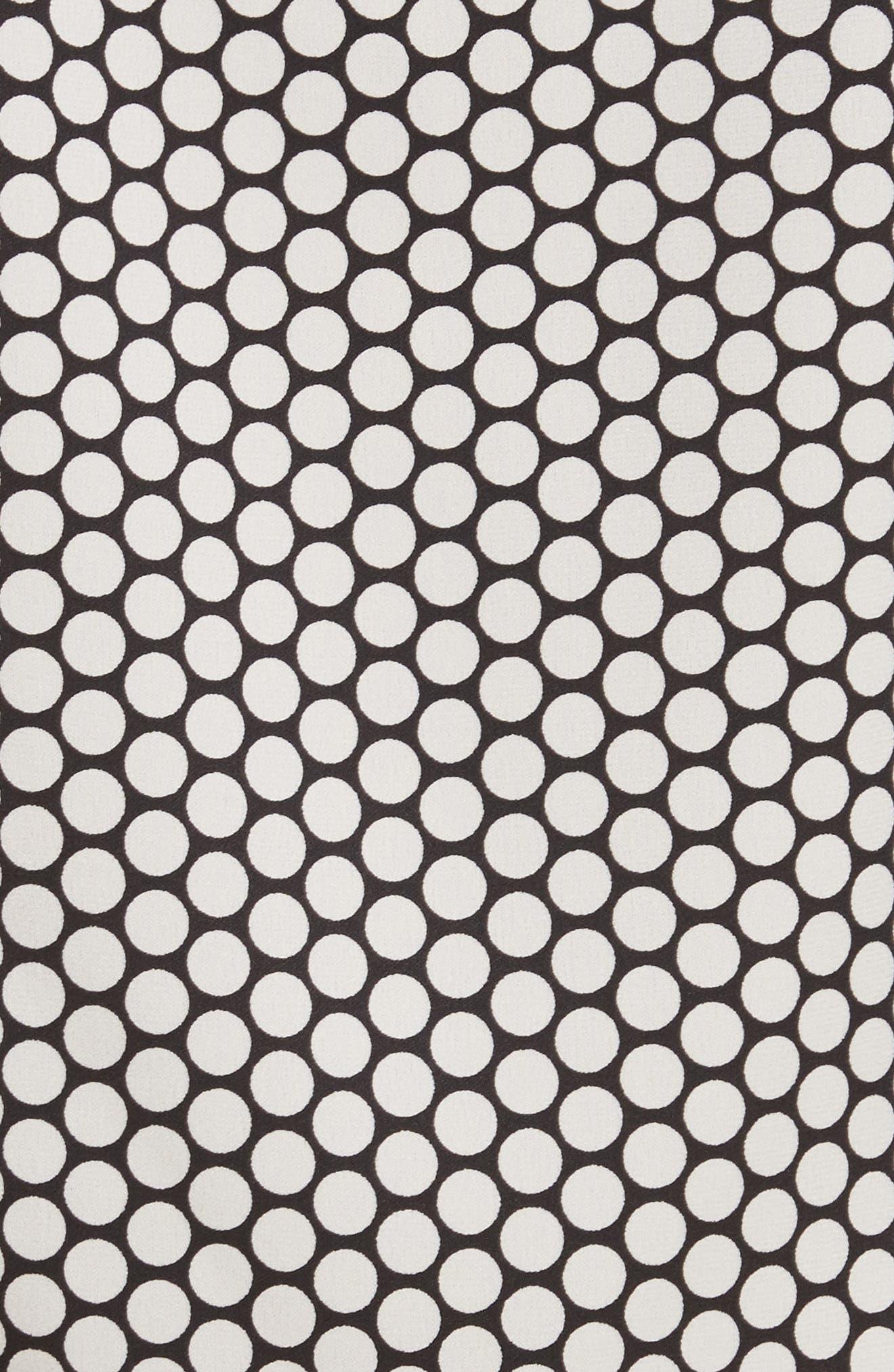 Diane von Furstenberg Stretch Silk Wrap Blouse,                             Alternate thumbnail 5, color,                             Rowe Dot Ivory