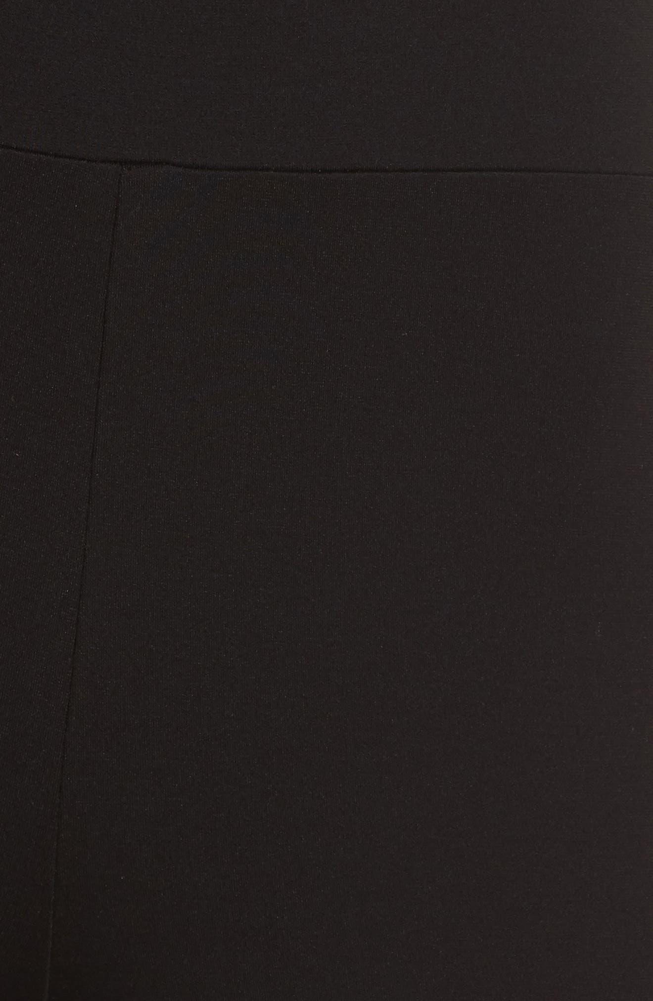 Femme Fatale Cutout Jumpsuit,                             Alternate thumbnail 6, color,                             Black