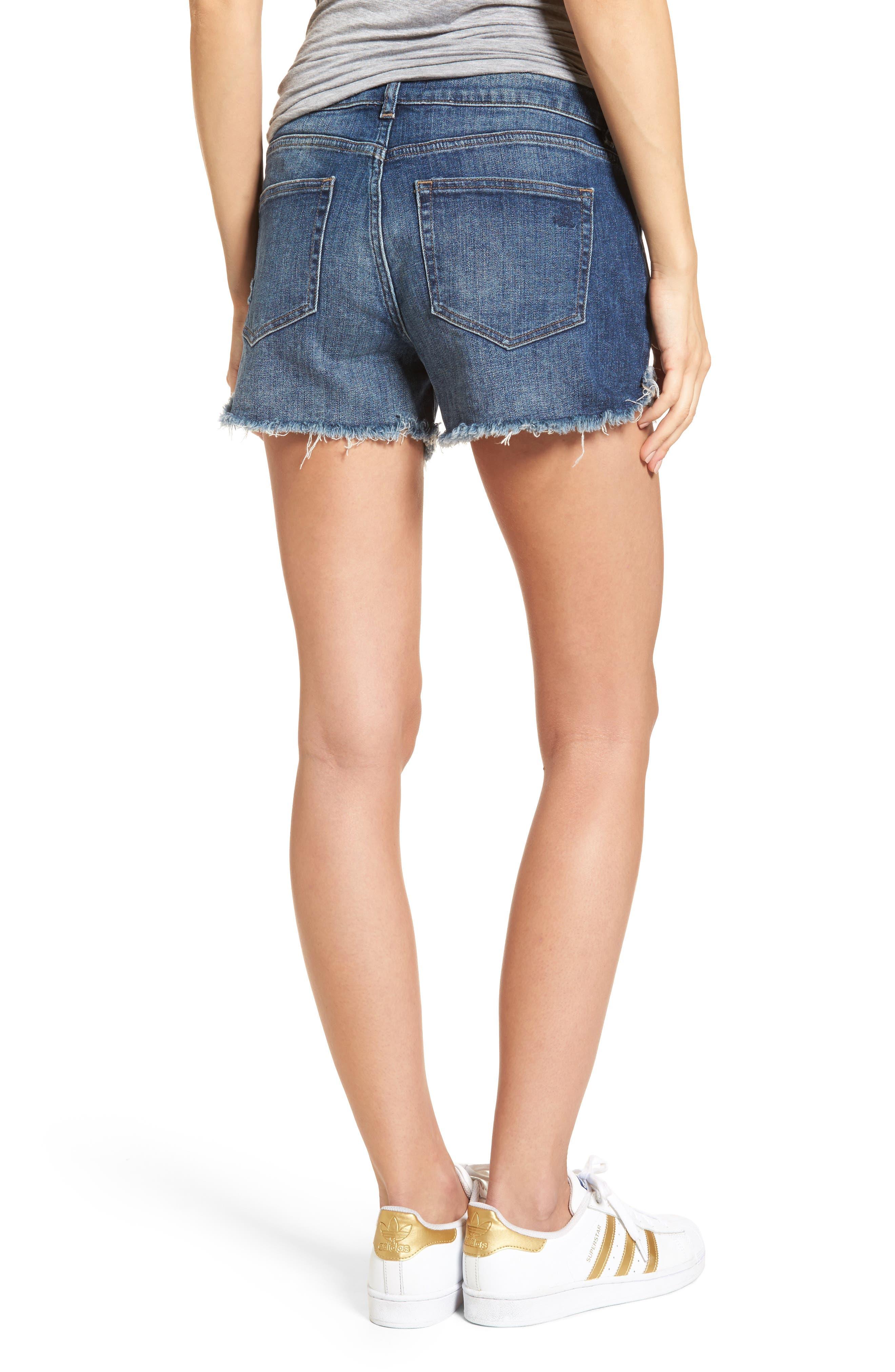 Karlie Cutoff Denim Boyfriend Shorts,                             Alternate thumbnail 2, color,                             Bluegrass