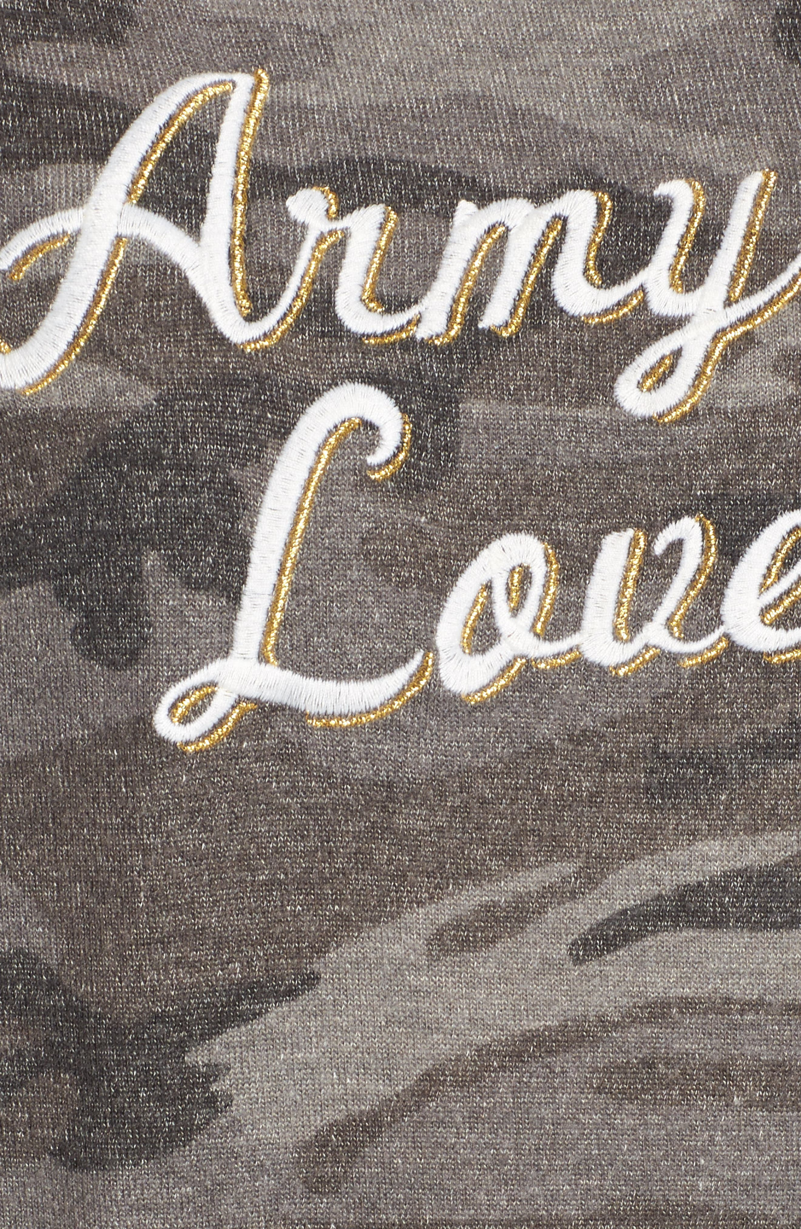 Army of Lovers Camo Hoodie,                             Alternate thumbnail 5, color,                             Charcoal Camo