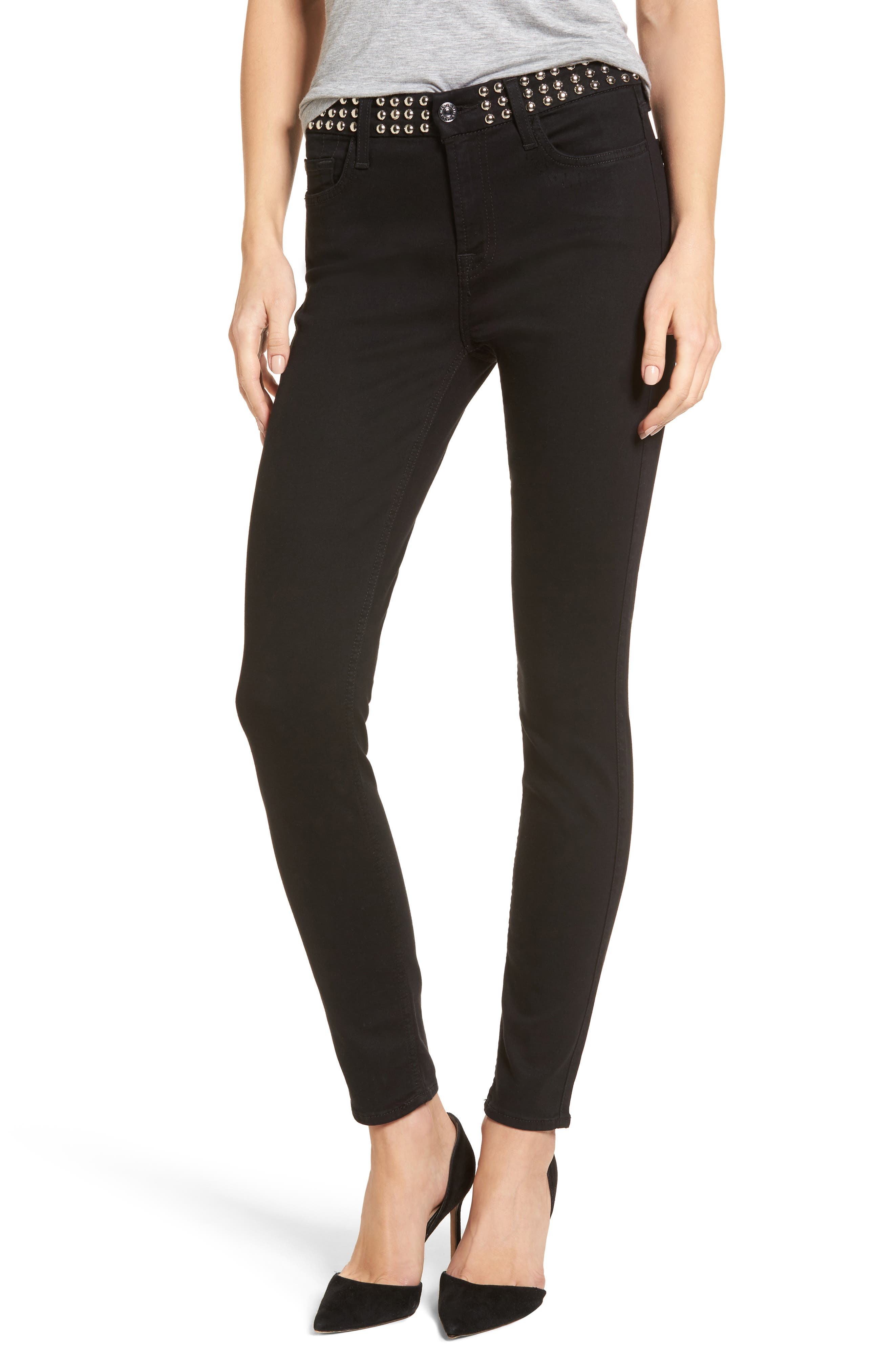 The Ankle Skinny Jeans,                         Main,                         color, Black