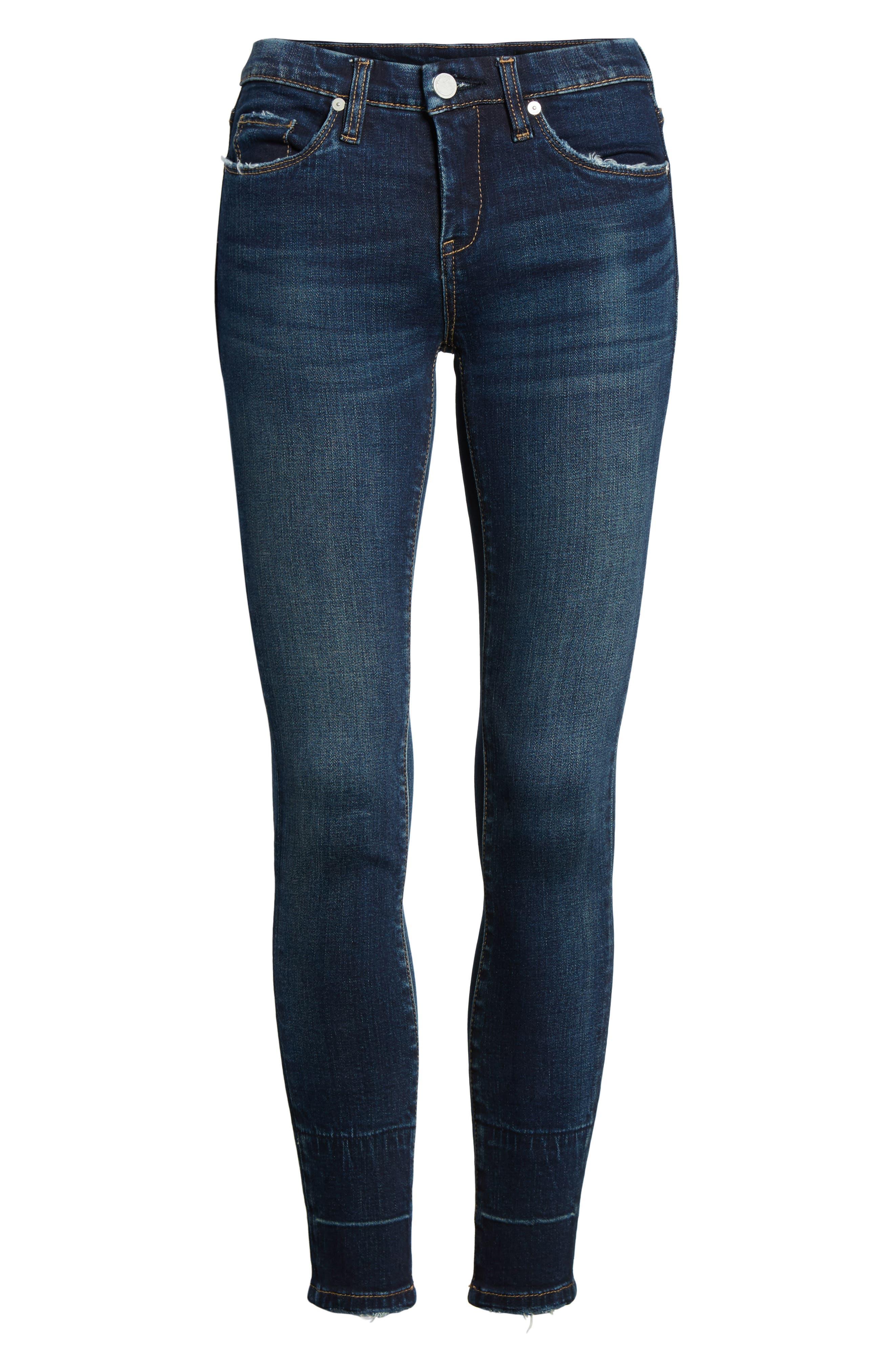 Release Hem Skinny Jeans,                             Alternate thumbnail 6, color,                             Morning Makeout