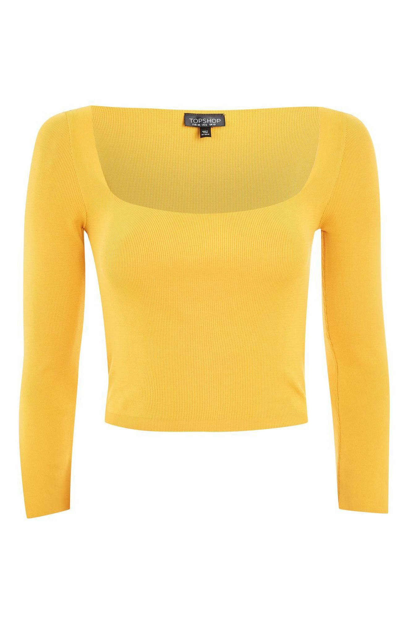 Alternate Image 4  - Topshop Split Sleeve Crop Sweater