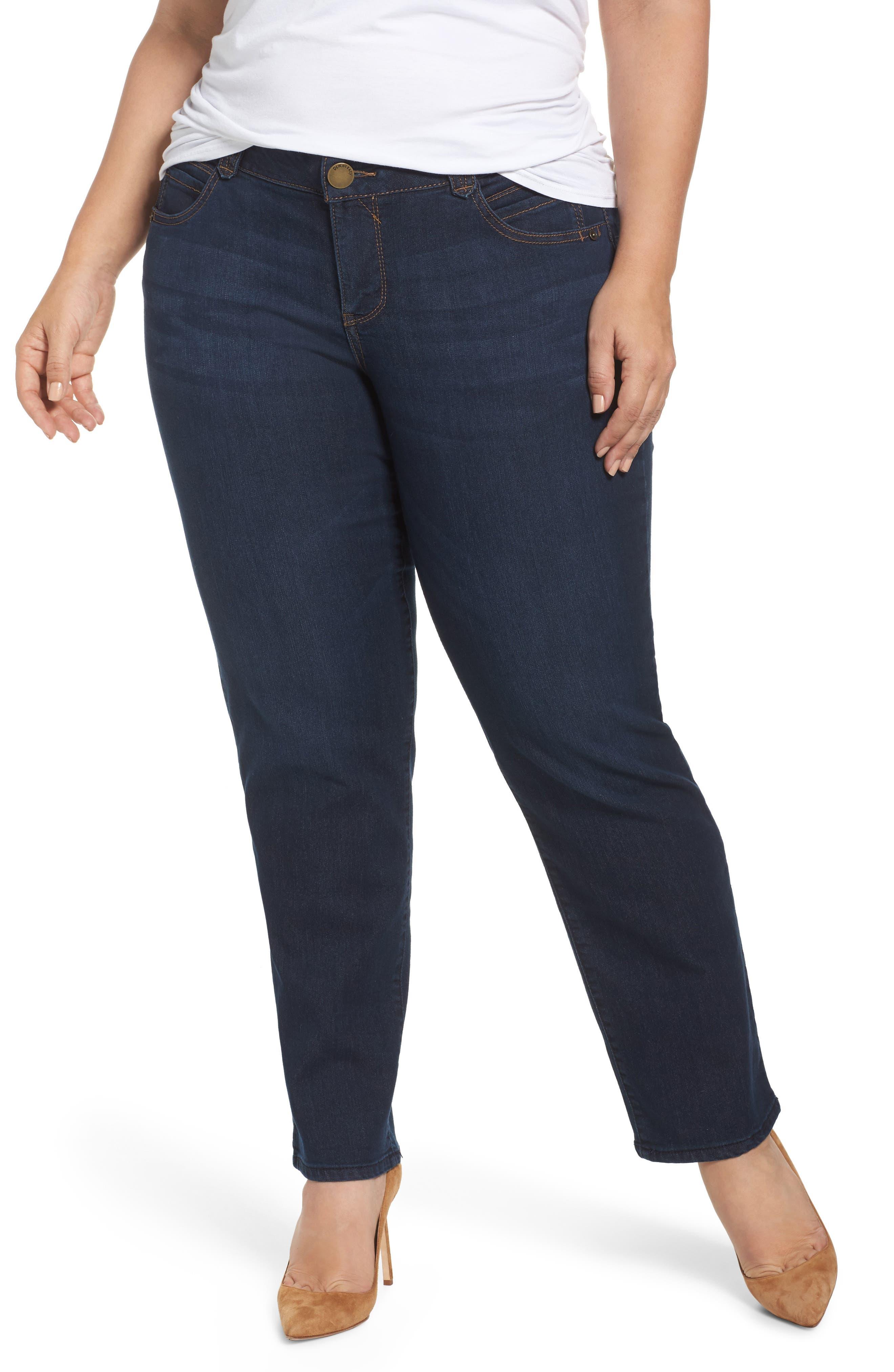 Ab-Solution Stretch Straight Leg Jeans,                             Main thumbnail 1, color,                             Indigo