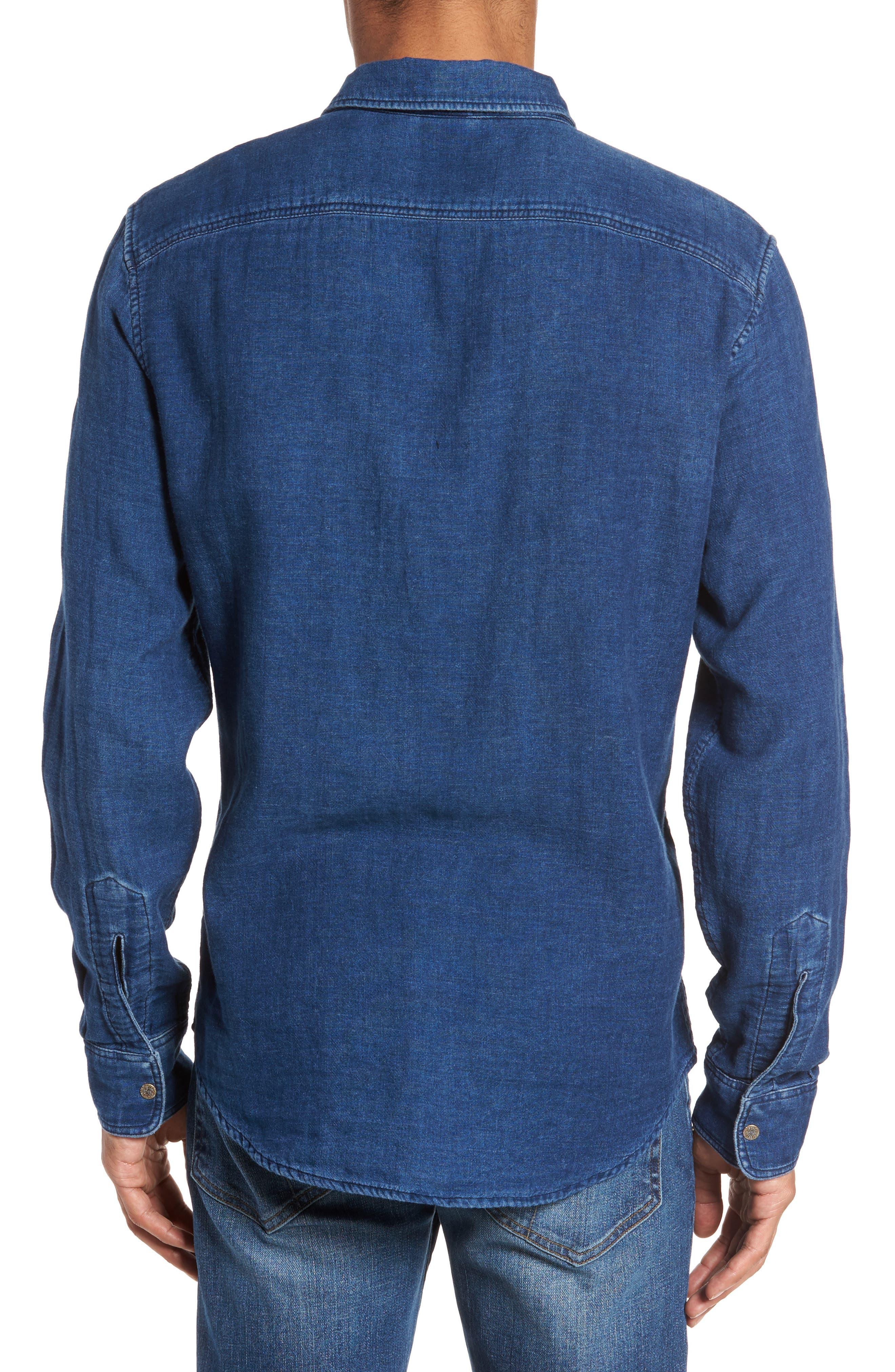 Alternate Image 2  - Faherty Brand Belmar Reversible Work Shirt