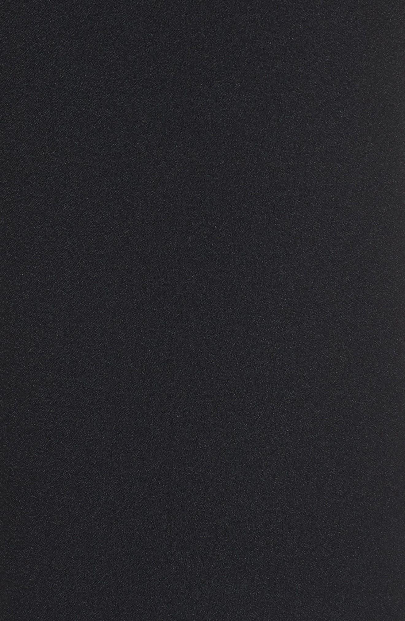 Lace & Crepe Jumpsuit,                             Alternate thumbnail 5, color,                             Black