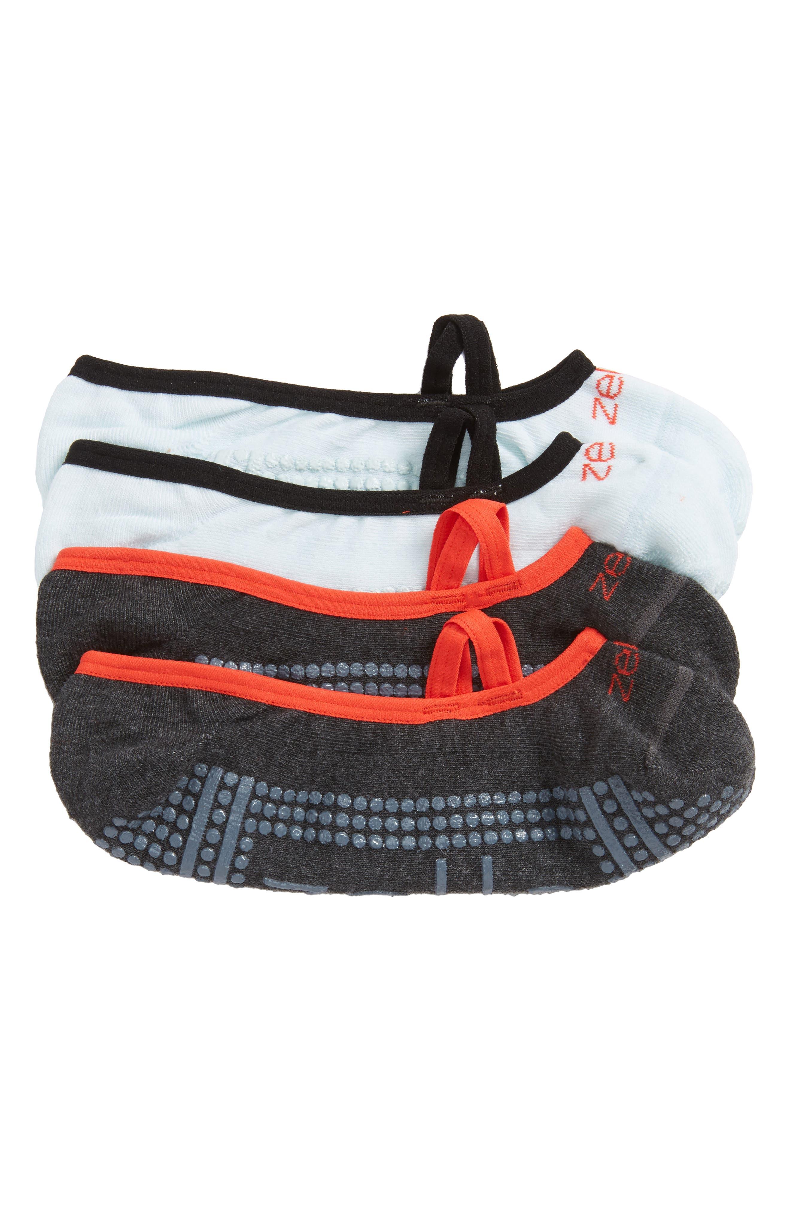 Alternate Image 1 Selected - Zella Studio Ankle Socks (2-Pack)