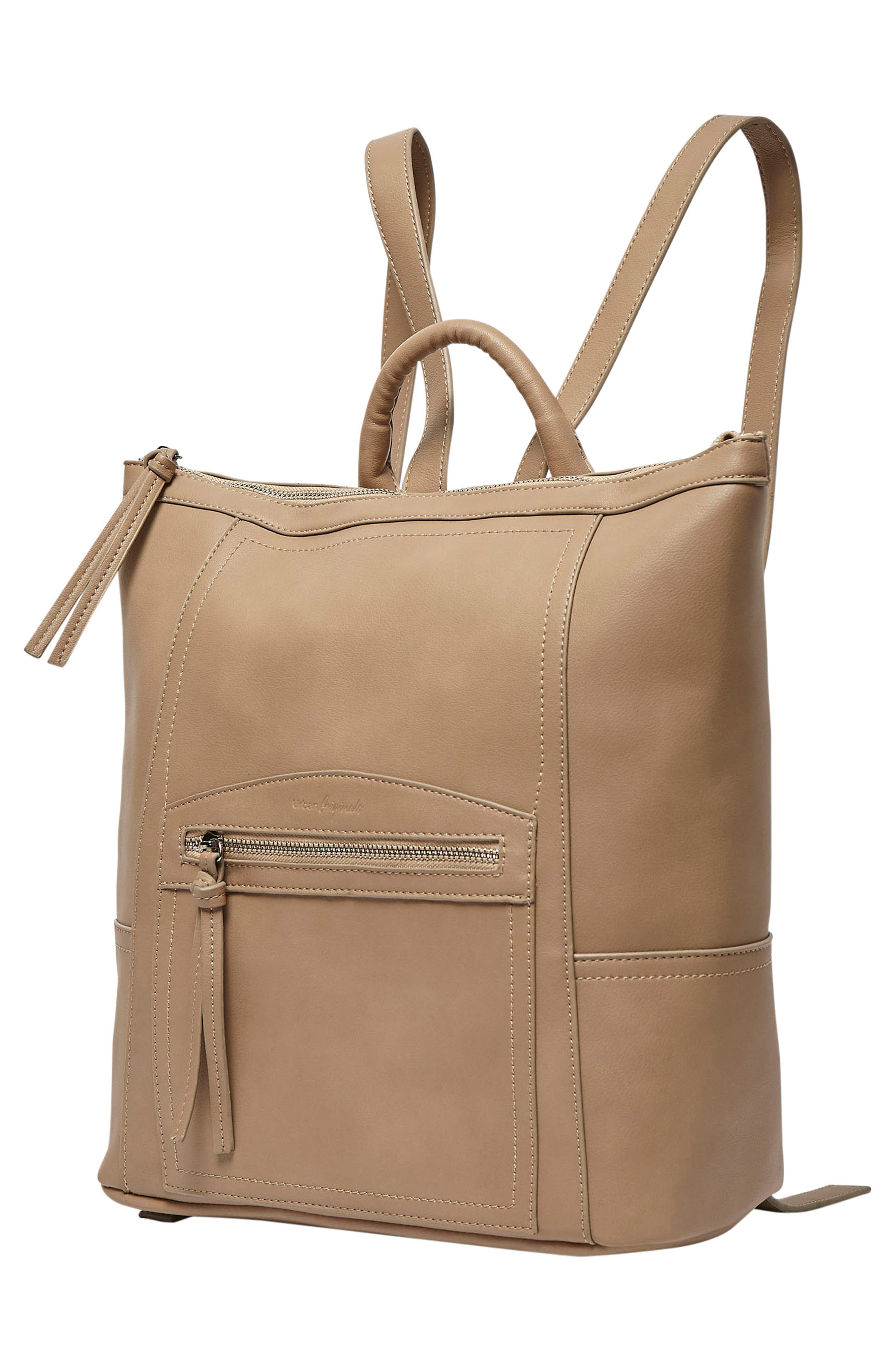 Eternity Vegan Leather Backpack,                             Alternate thumbnail 2, color,                             Taupe