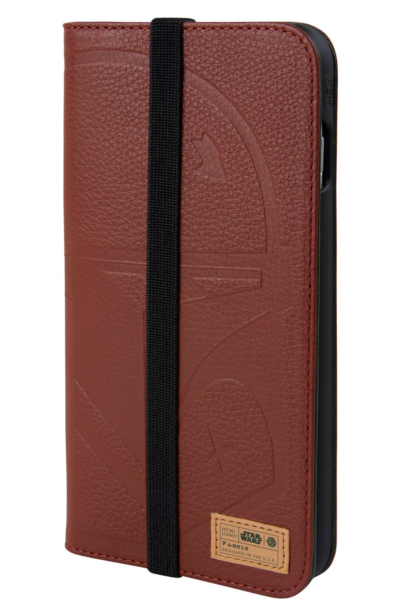 Boba Fett iPhone 8 Plus Wallet Case,                         Main,                         color, Burgundy