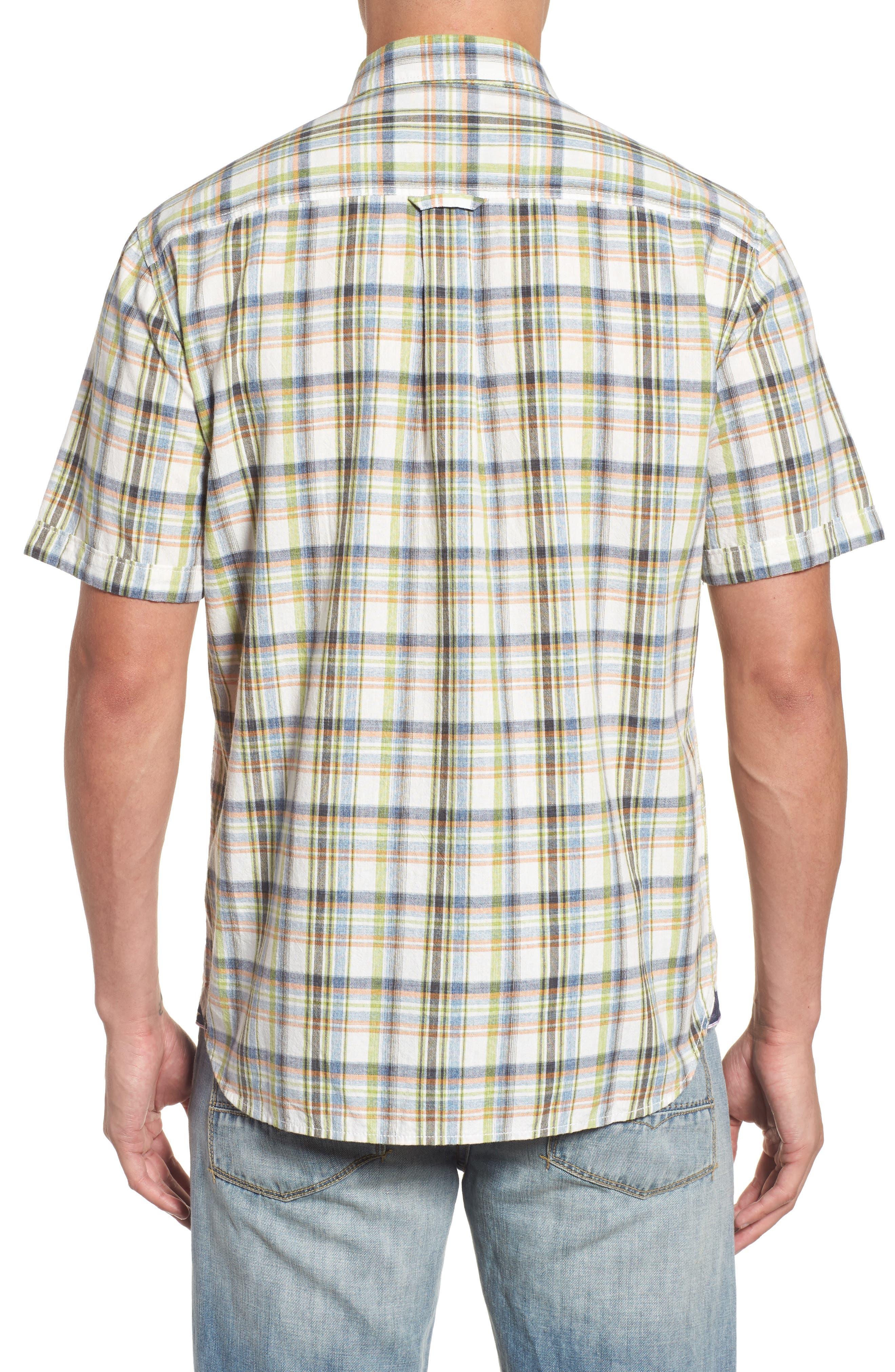Ocean Cay Plaid Sport Shirt,                             Alternate thumbnail 2, color,                             Tart Apple