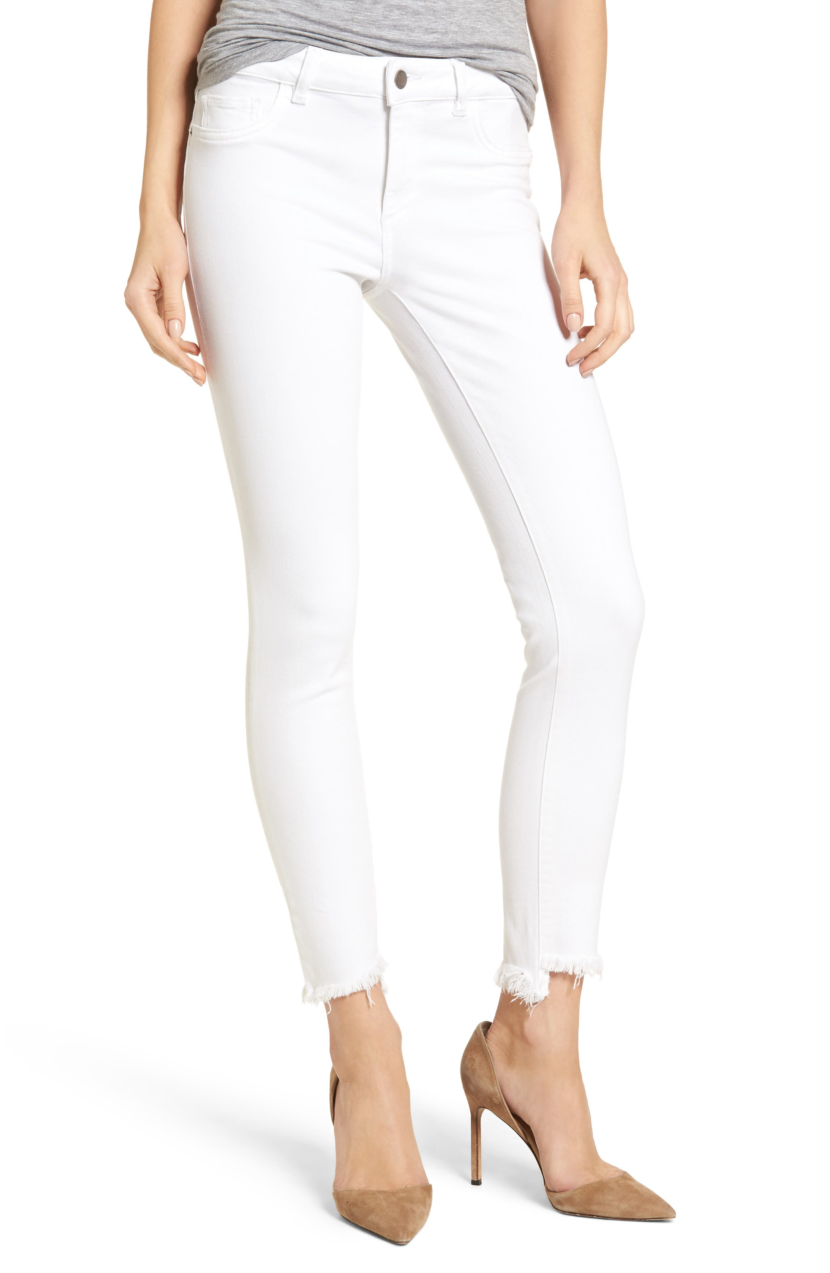 Alternate Image 1 Selected - DL1961 Margaux Instasculpt Ankle Skinny Jeans (Catalina)
