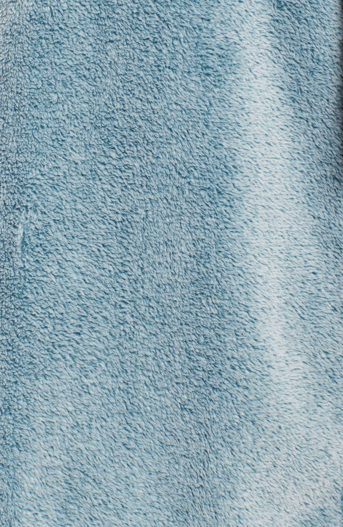 Plush Velour Robe,                             Alternate thumbnail 6, color,                             Light Blue