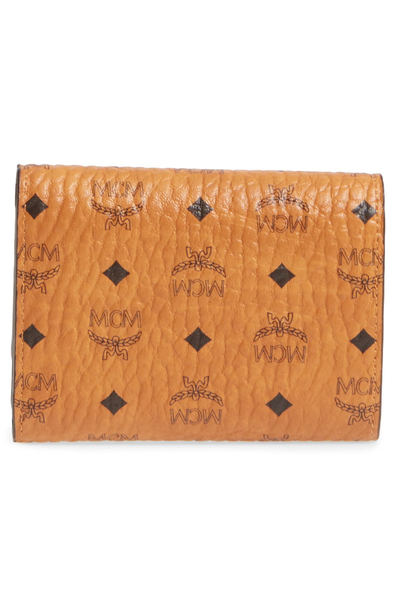 Original Small Visetos Trifold Wallet,                             Alternate thumbnail 3, color,                             Cognac