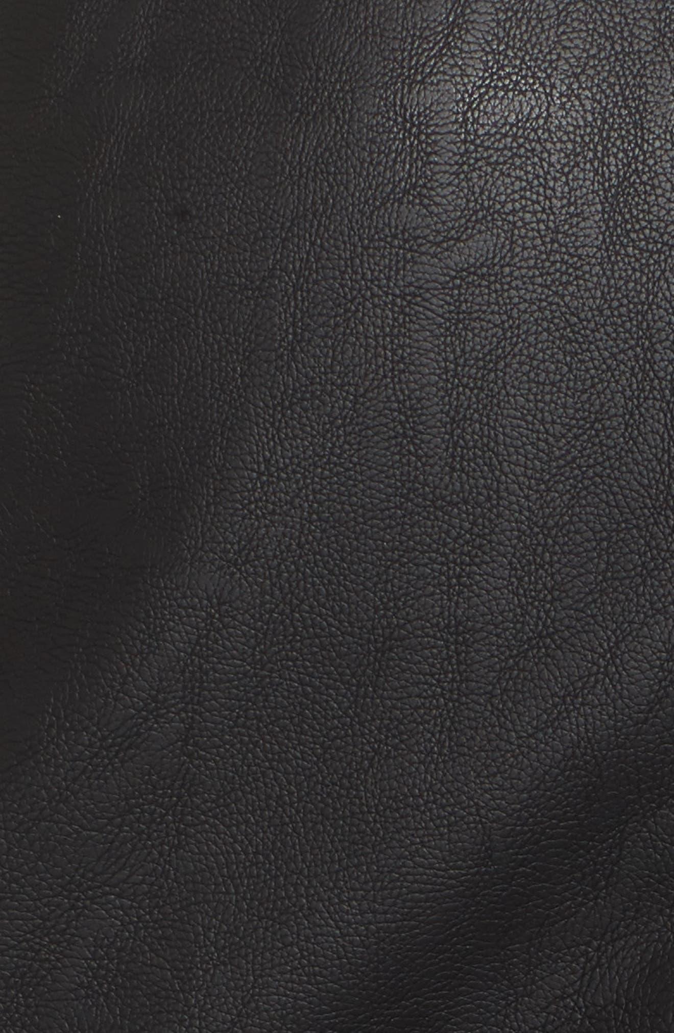 Dakota Lace Up Faux Leather Skirt,                             Alternate thumbnail 6, color,                             Black