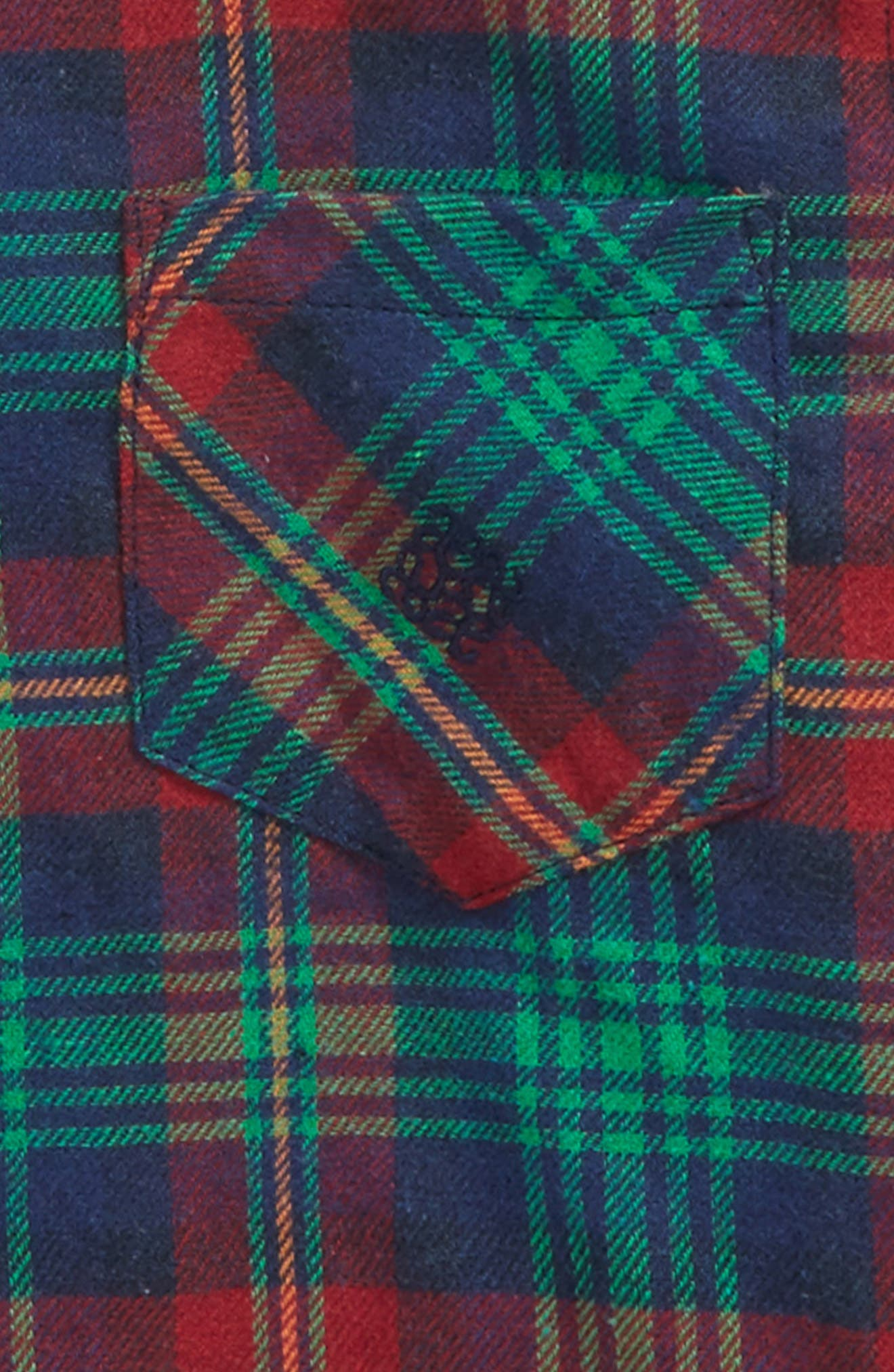 Plaid Woven Shirt,                             Alternate thumbnail 2, color,                             Navy/ Red/ Green