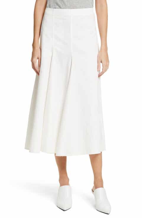 JOSEPH Twill Chino Midi Skirt