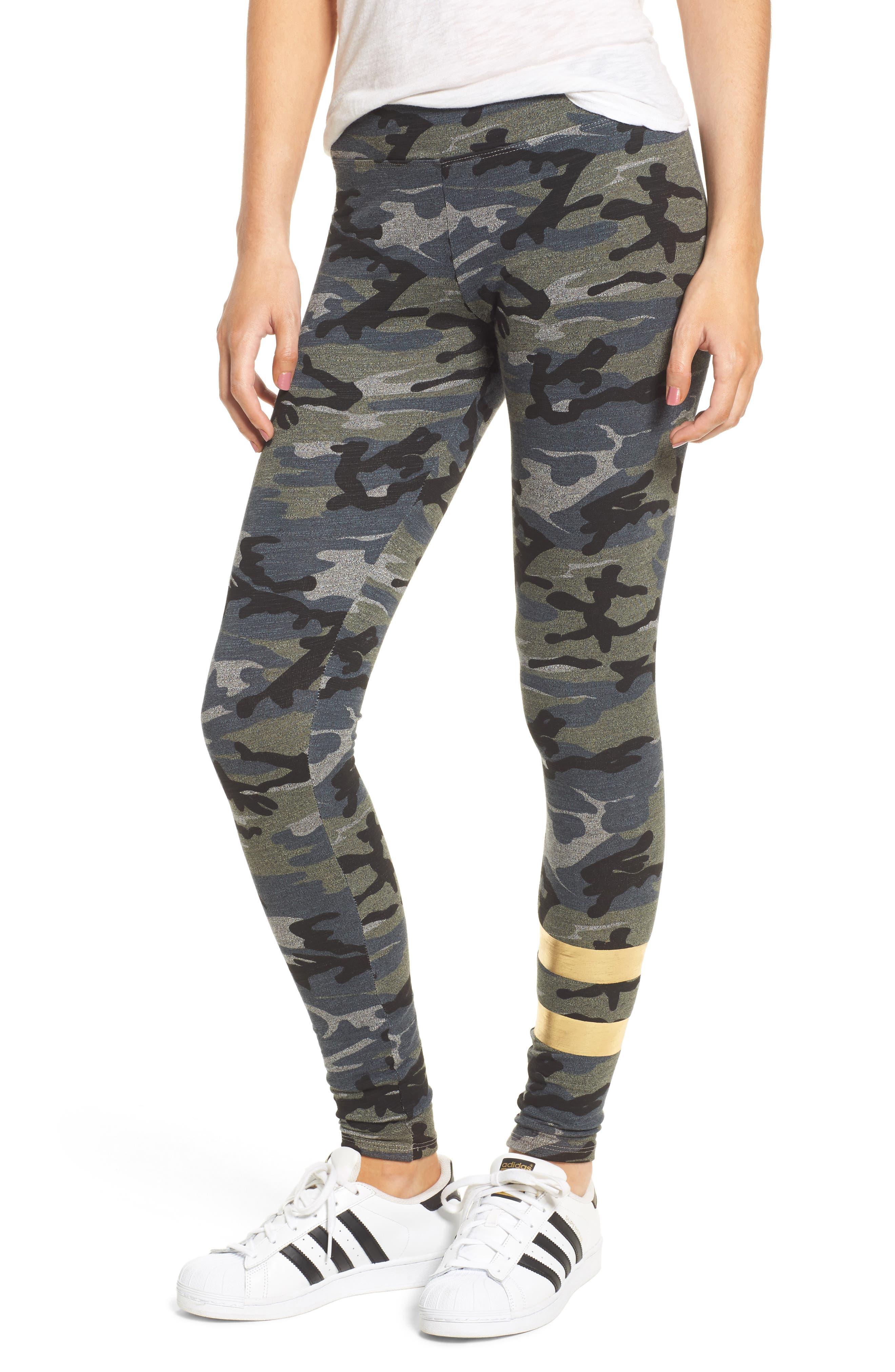 Sundry Foil Stripe Yoga Pants