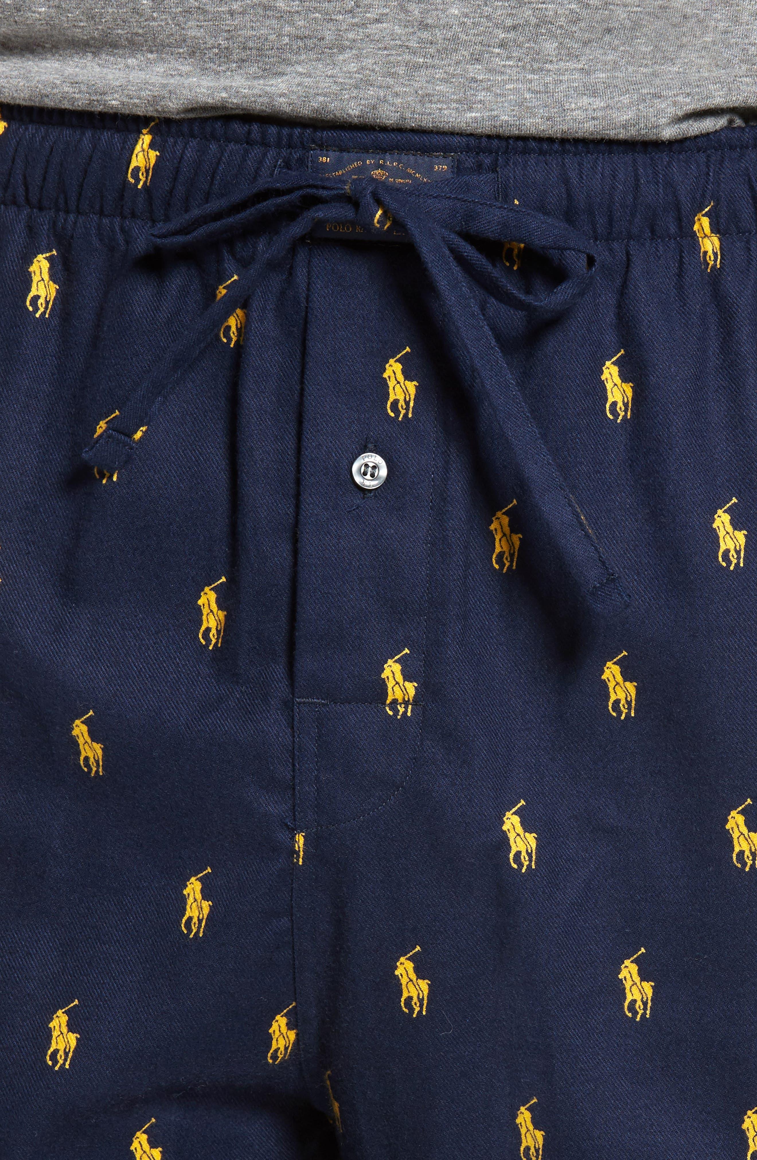 Alternate Image 4  - Ralph Lauren Brushed Flannel Pajama Pants