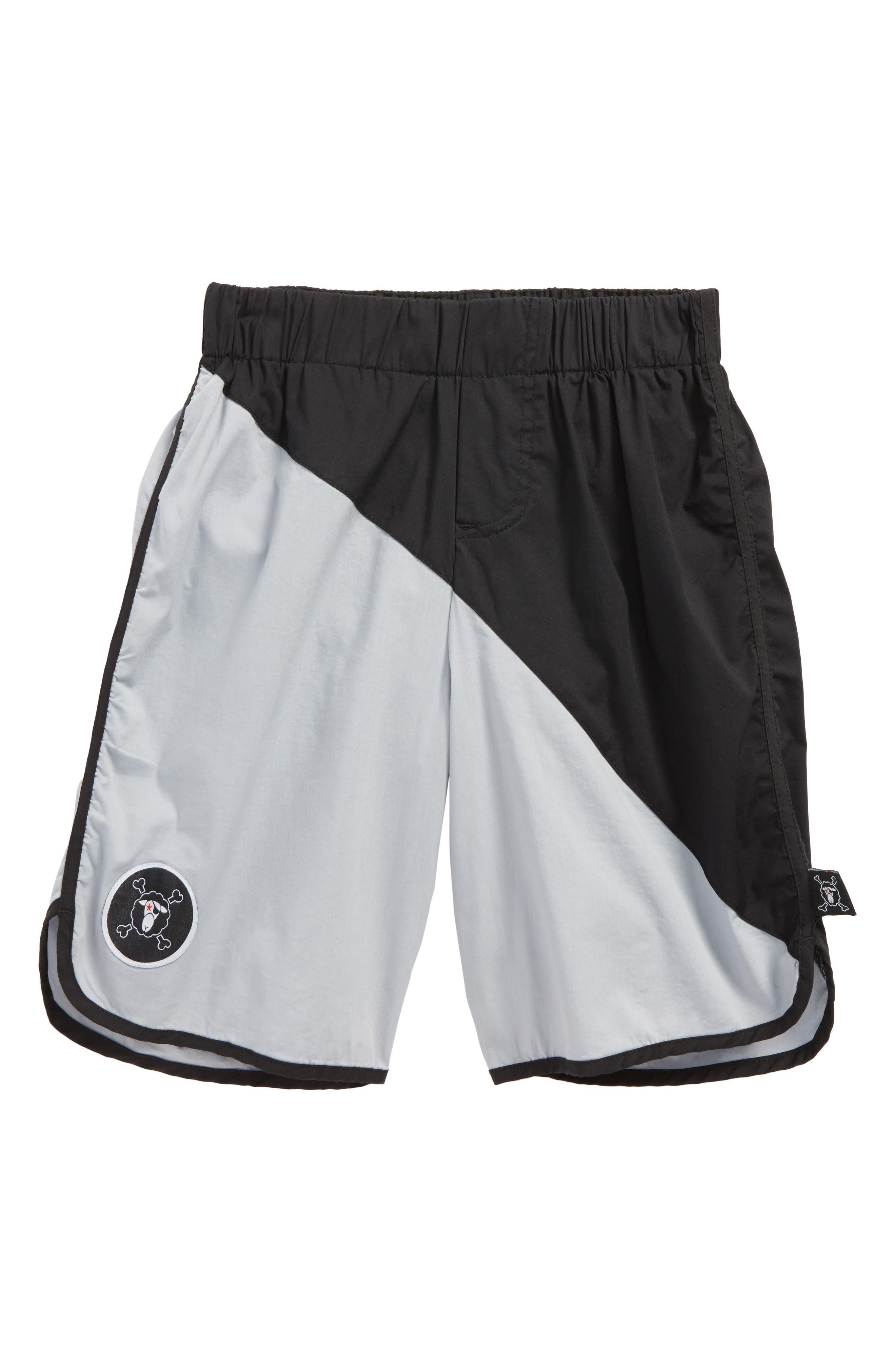 Colorblock Board Shorts,                             Main thumbnail 1, color,                             Black/ Light Grey