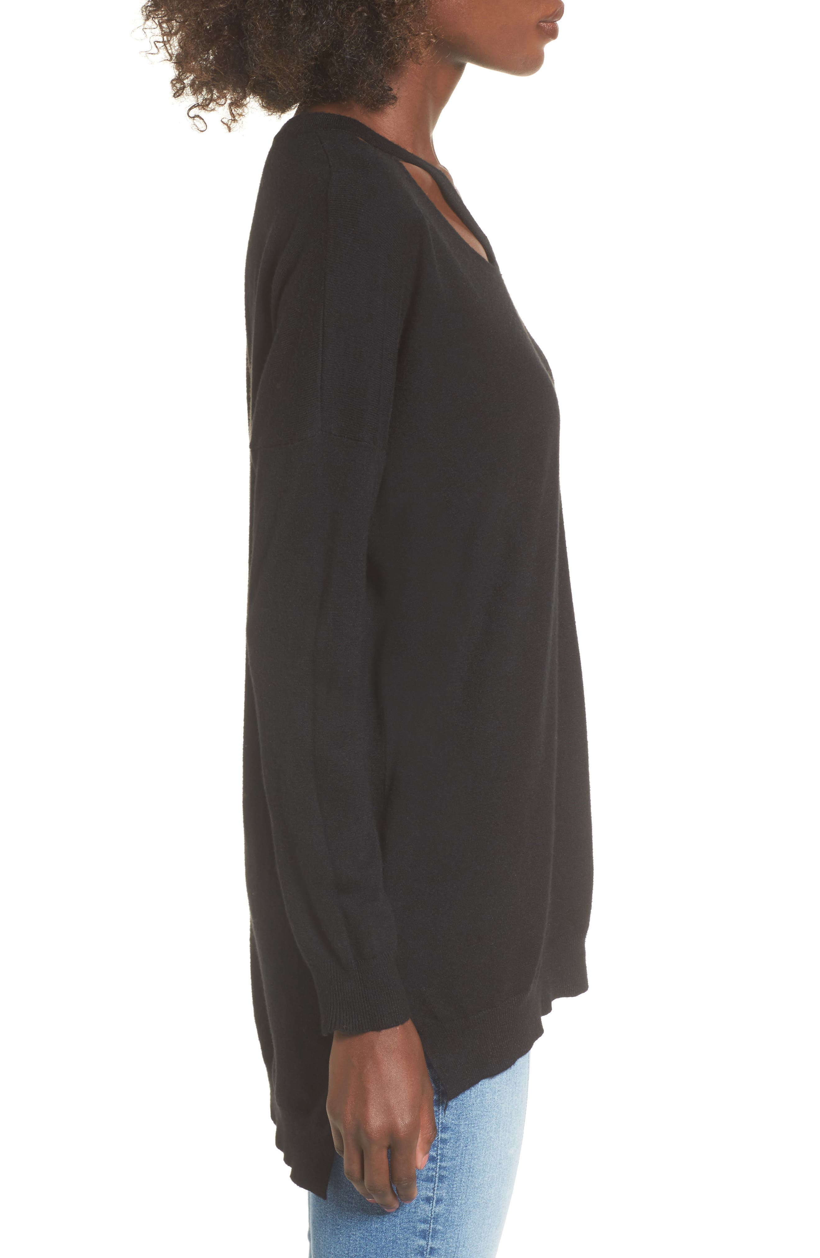 Alternate Image 3  - Dreamers by Debut Cutout Detail Sweater