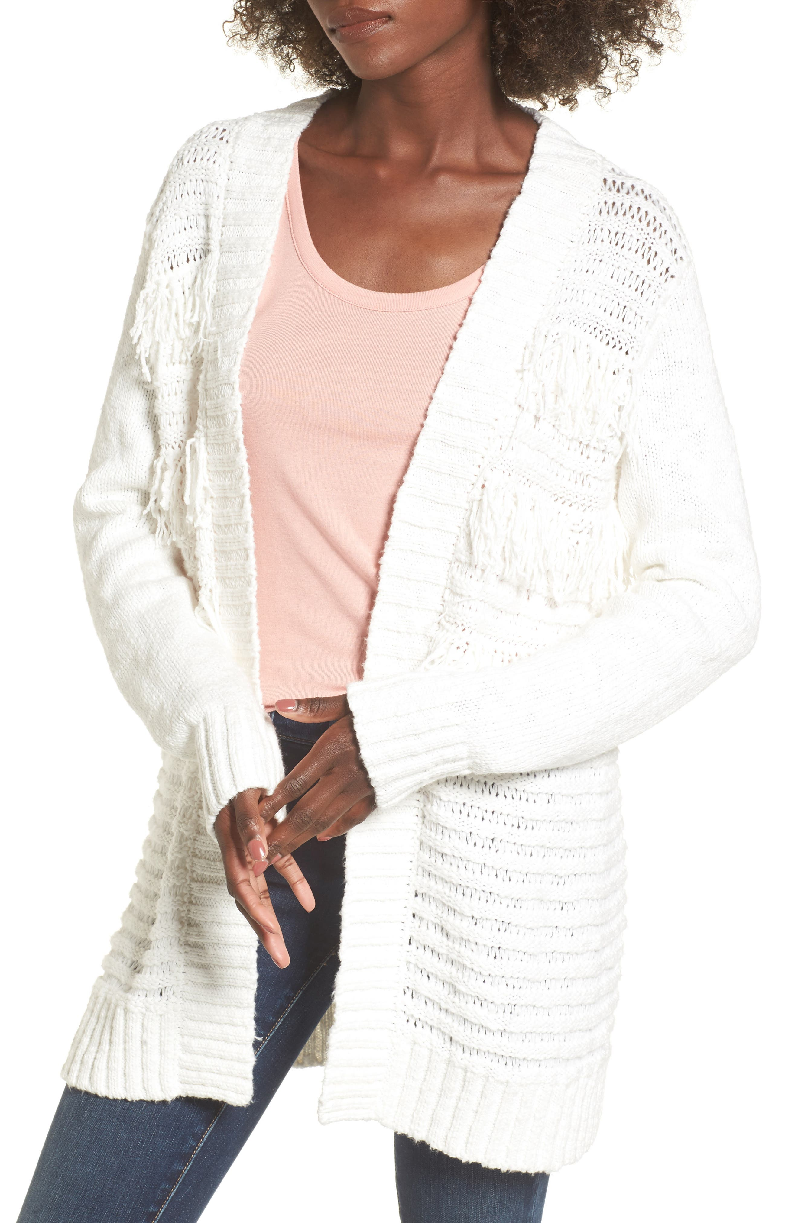 Open Cardigan,                         Main,                         color, On The Prowl/ Ivory