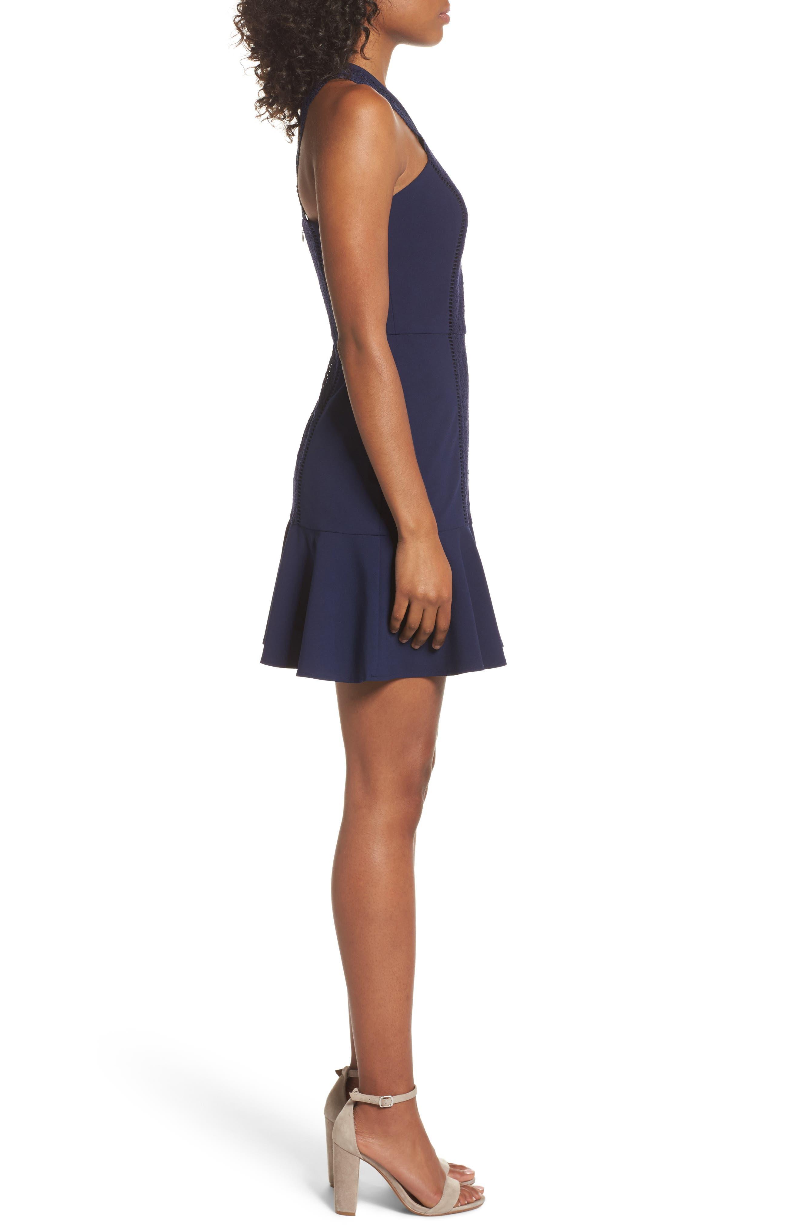 Alternate Image 3  - Greylin Mila Lace Fit & Flare Dress