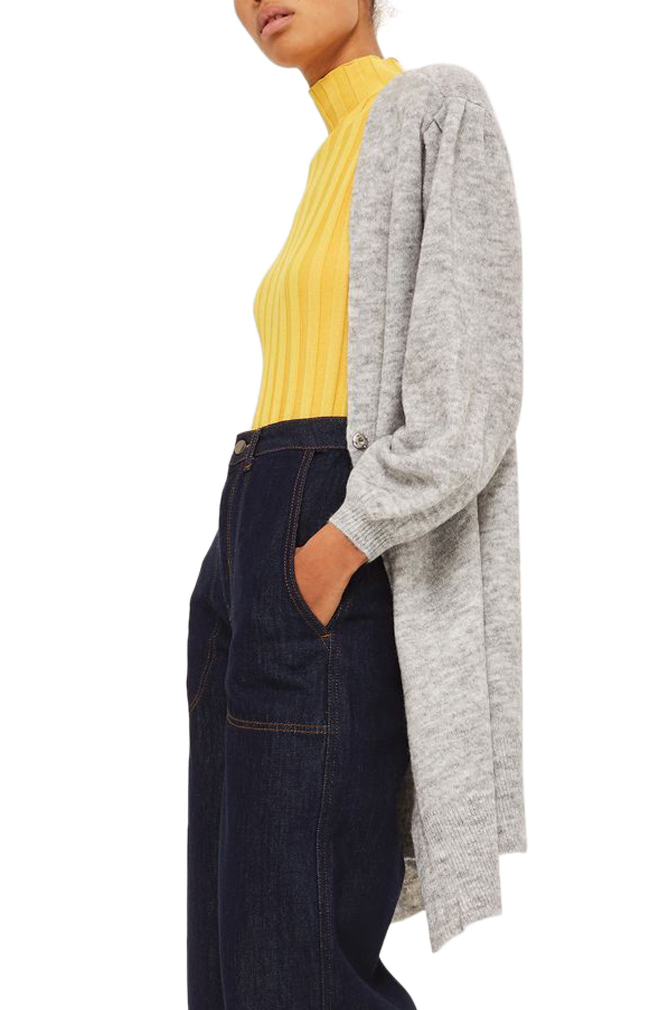 Main Image - Topshop Balloon Sleeve Cardigan