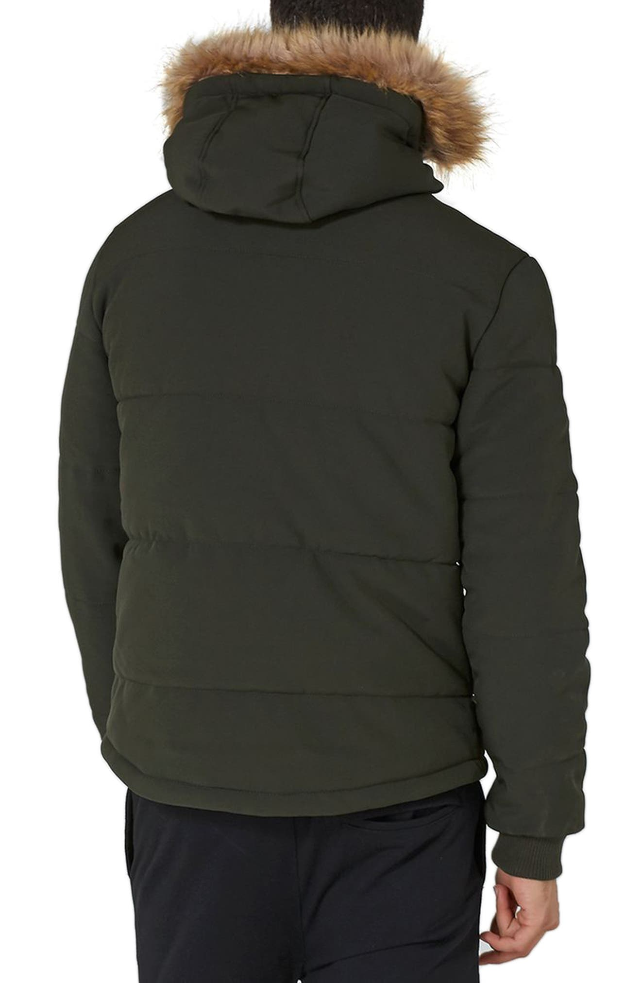Maguire Faux Fur Trim Puffer Jacket,                             Alternate thumbnail 2, color,                             Green