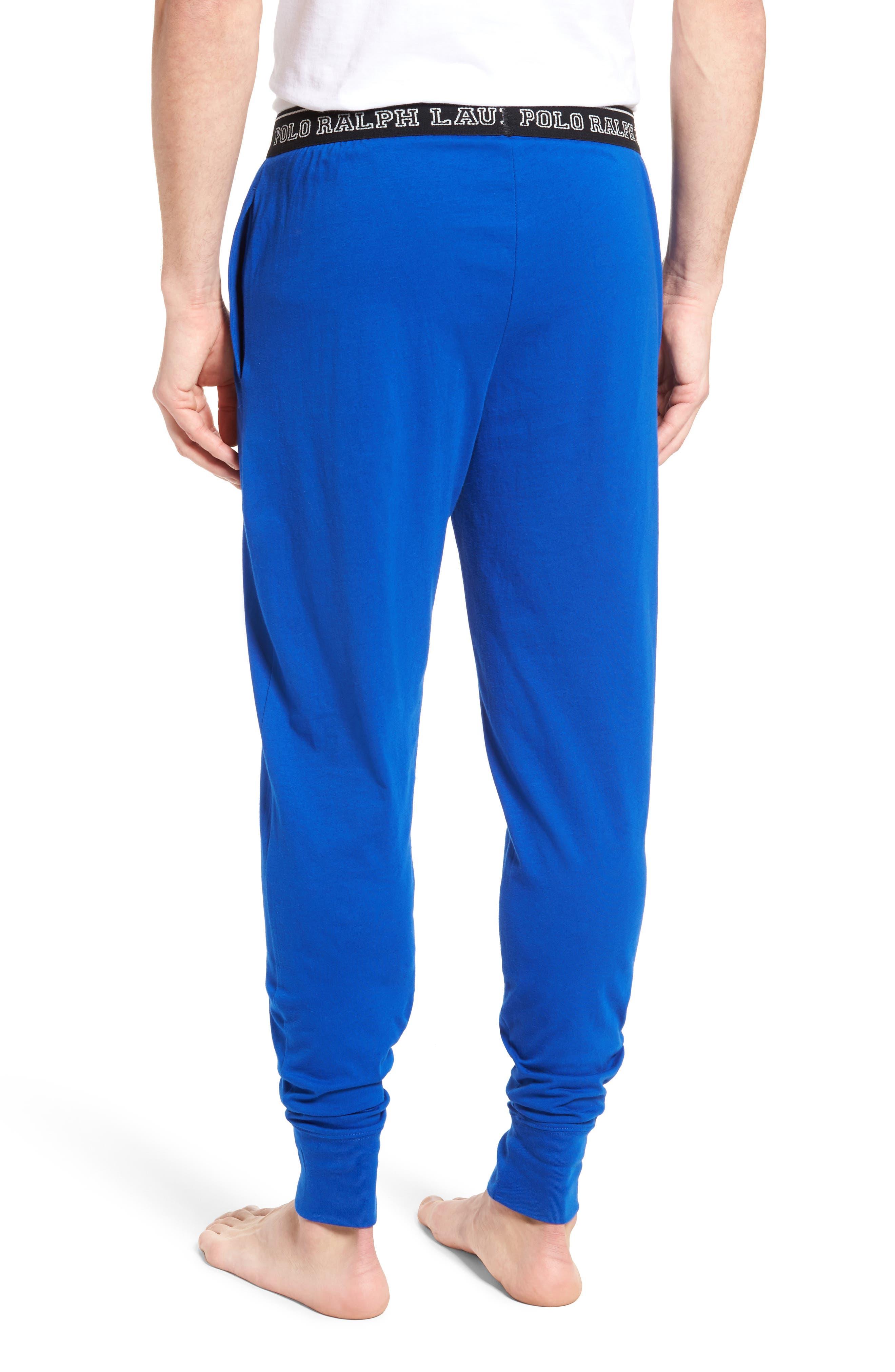 Polo Ralph Lauren Cotton Lounge Pants,                             Alternate thumbnail 2, color,                             Sapphire Star/ Crescent Cream