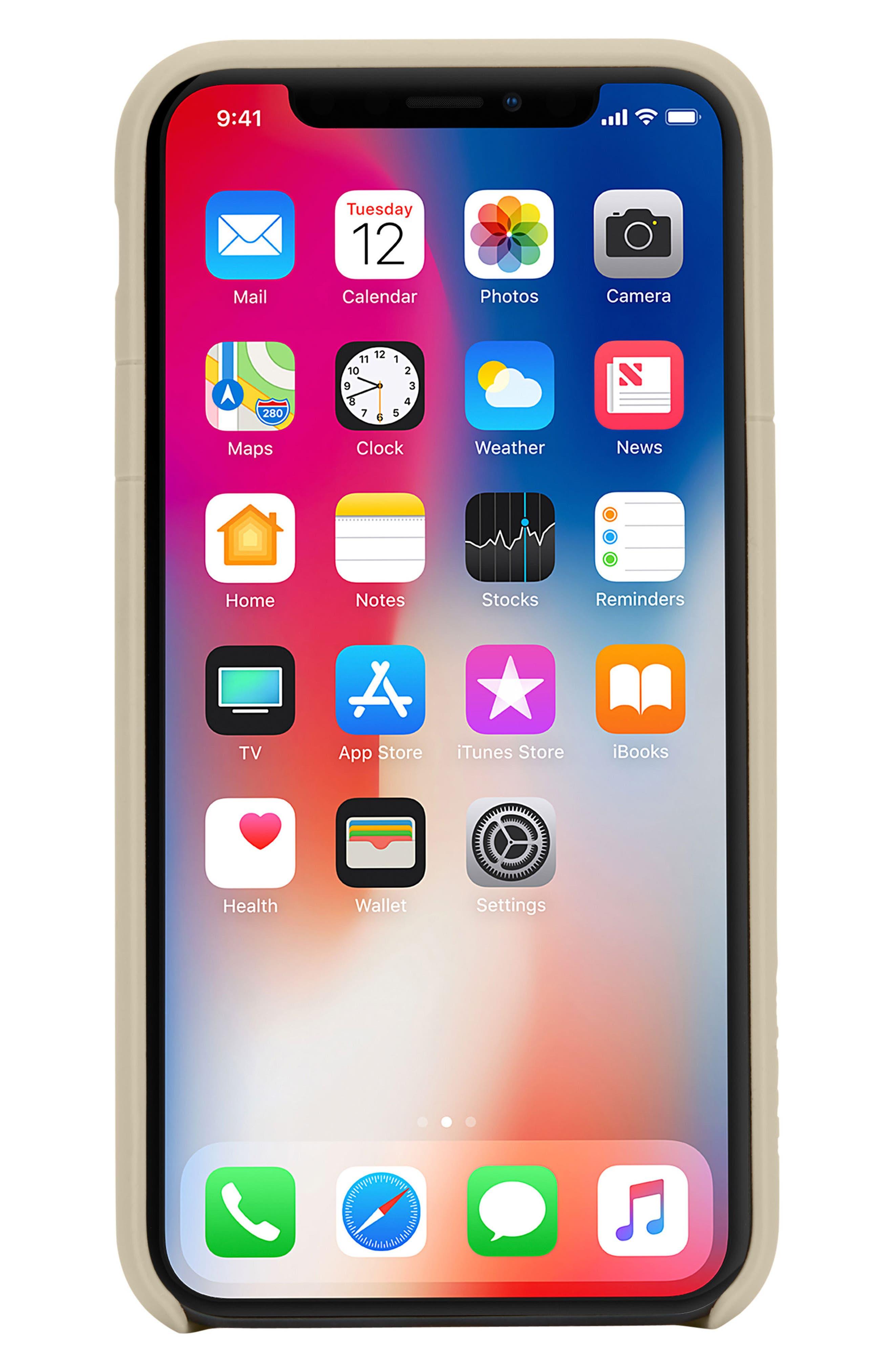 Facet iPhone X Case,                             Alternate thumbnail 9, color,                             Gold