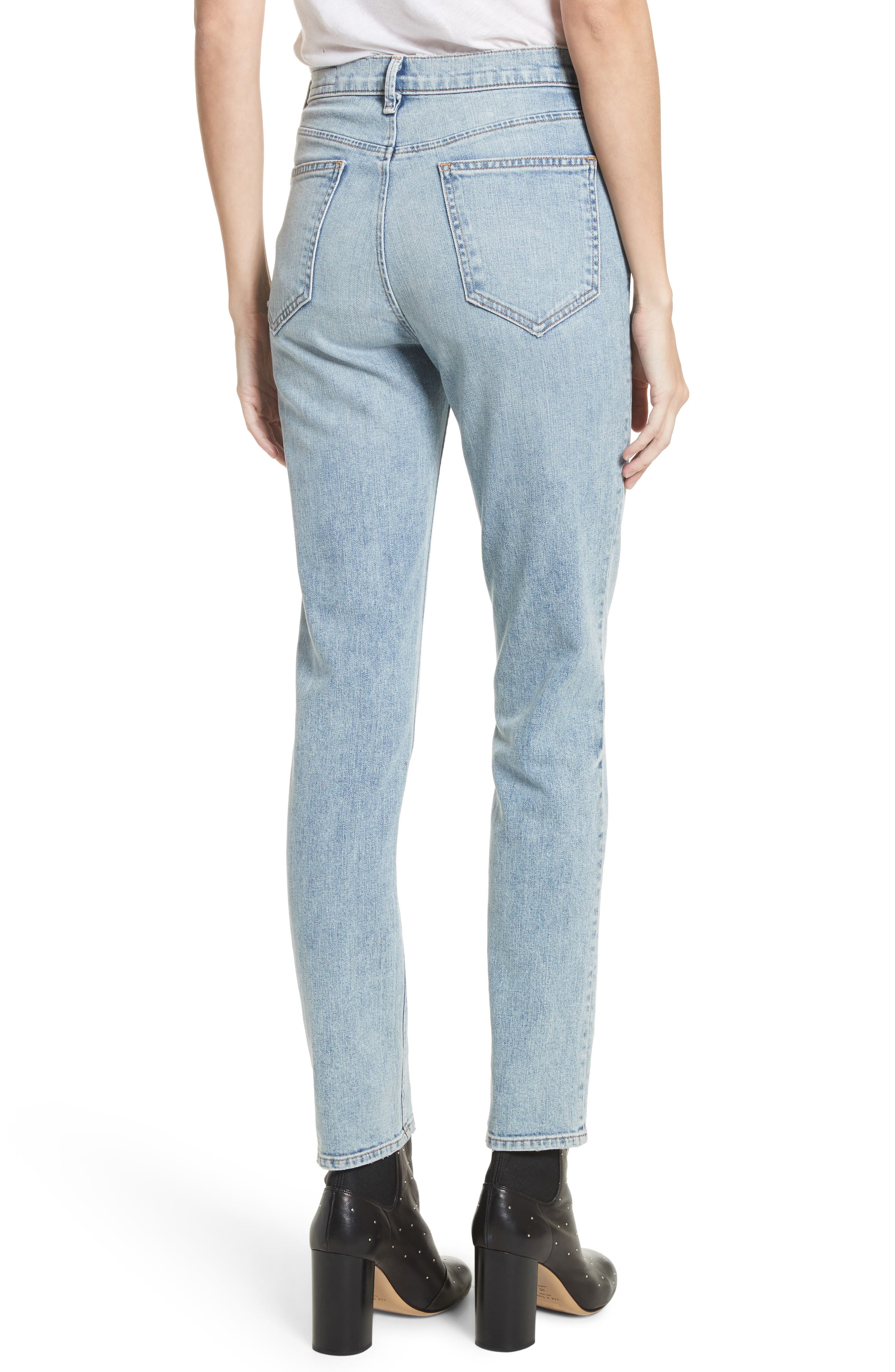 Alternate Image 2  - rag & bone/JEAN Cigarette Leg Jeans (Double Down)