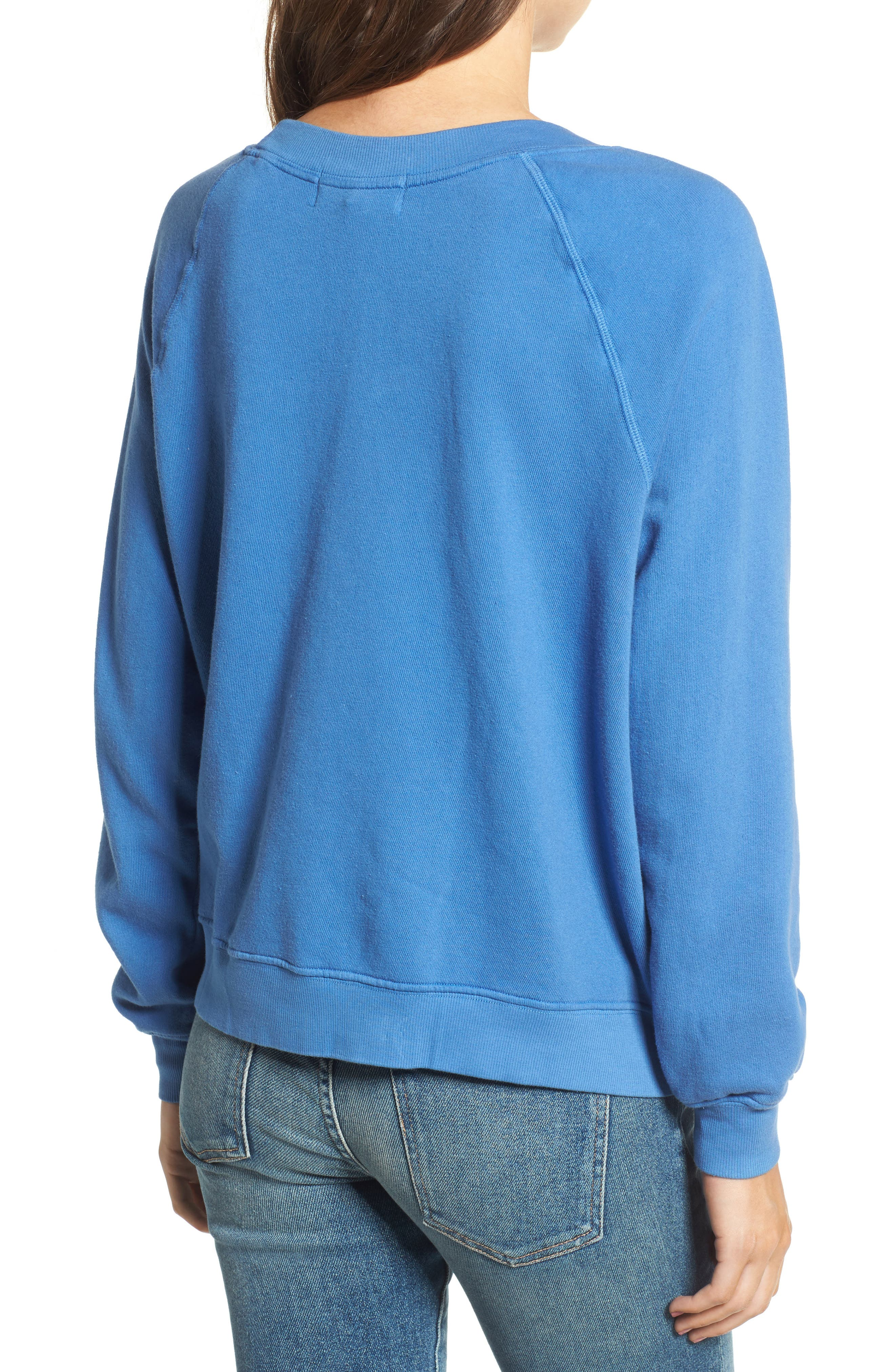 Naps & Snacks Sweatshirt,                             Alternate thumbnail 2, color,                             Portrait Blue