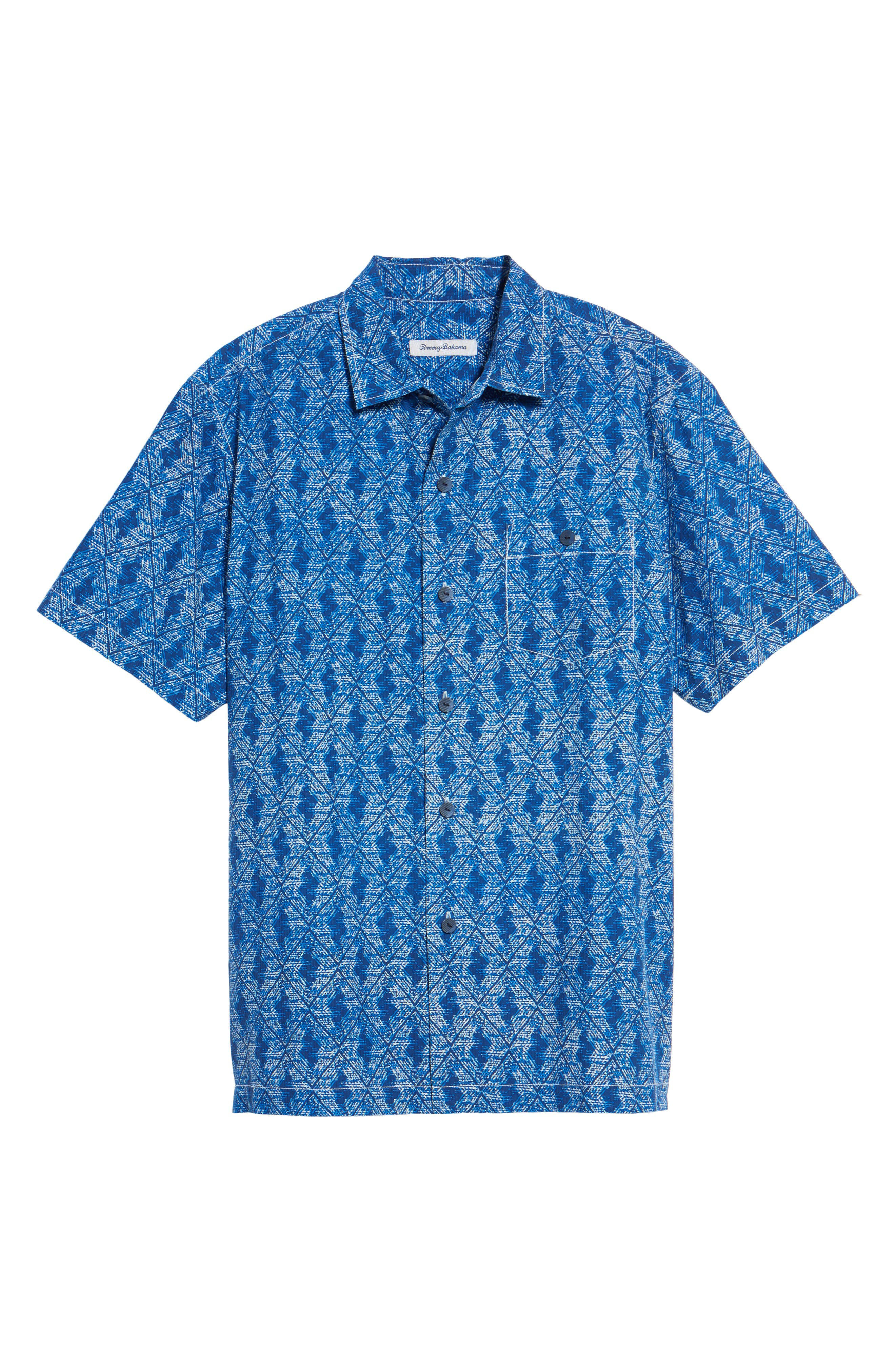 Alternate Image 6  - Tommy Bahama Del Ray Diamond Sport Shirt