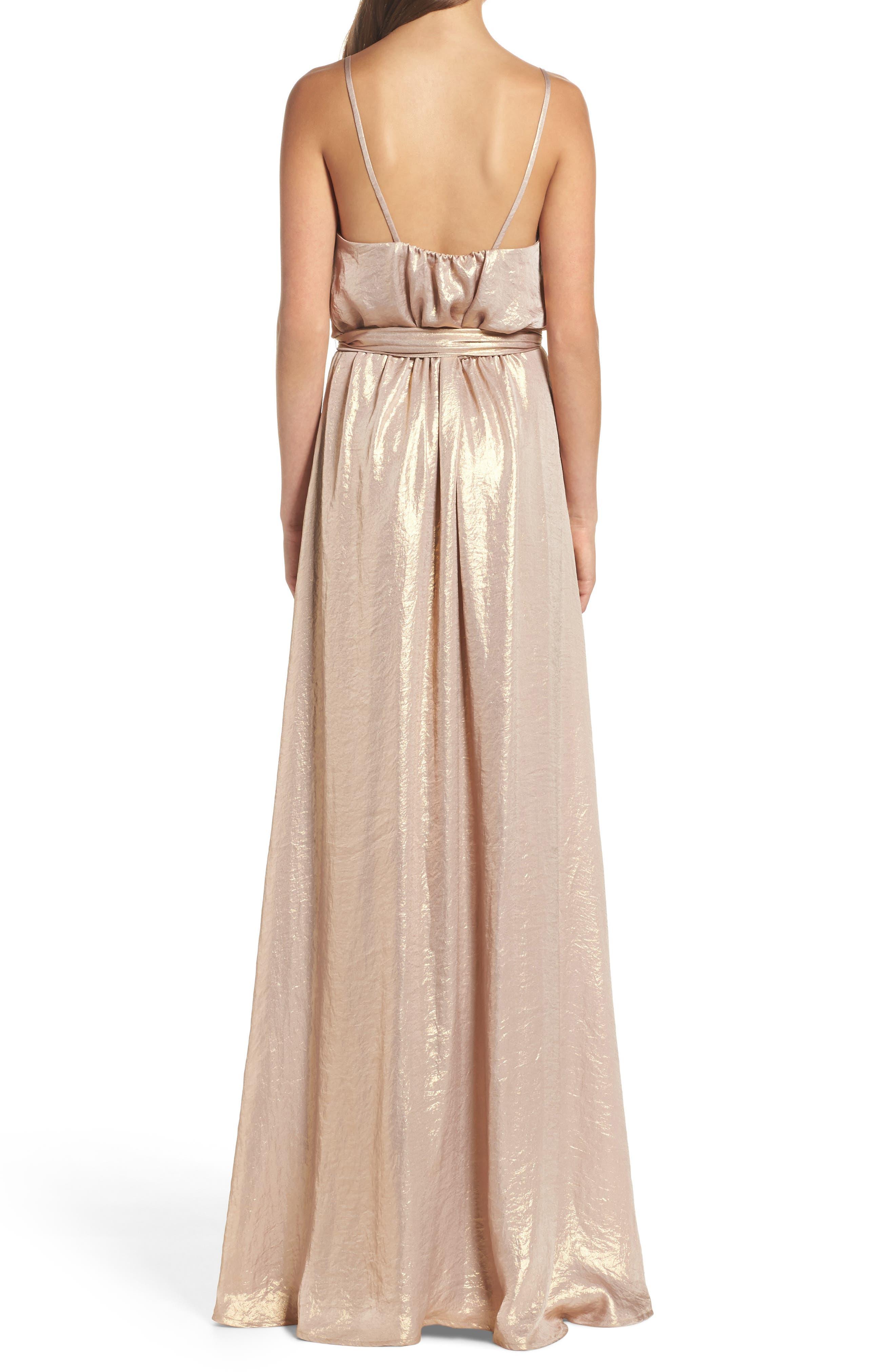 Alternate Image 3  - nouvelle AMSALE Crushed Satin Blouson Gown