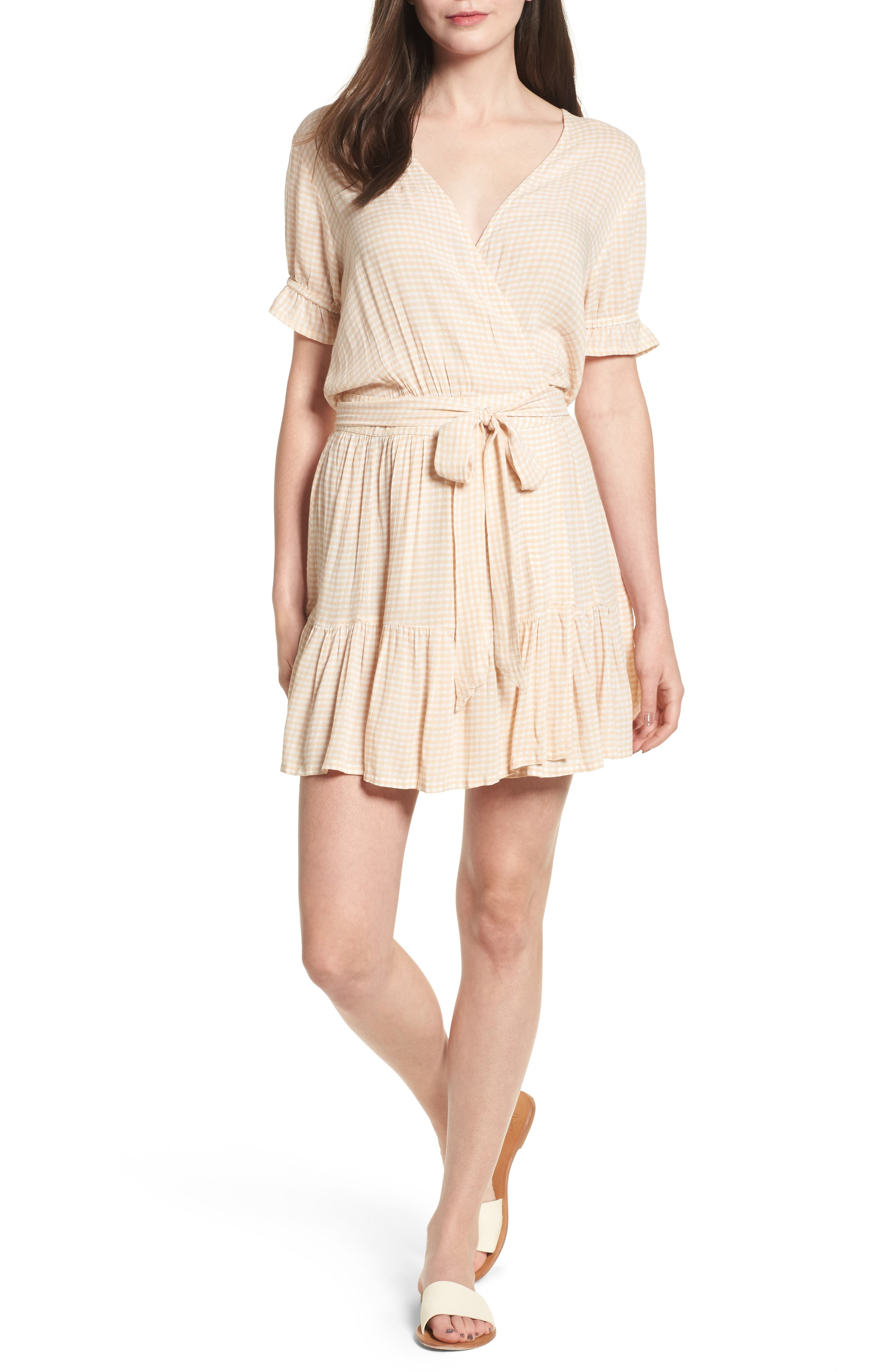 Liza Faux Wrap Flounce Dress,                         Main,                         color, Jardin Print