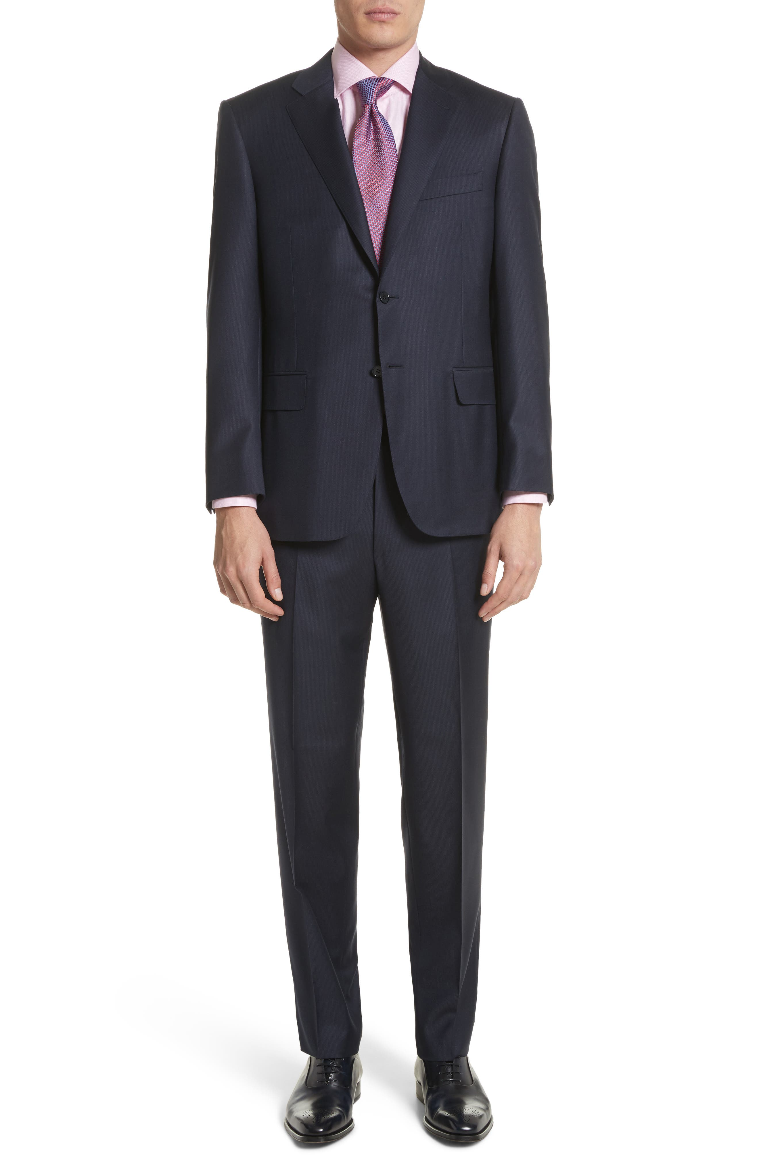 Alternate Image 1 Selected - Canali Classic Fit Stripe Wool Suit