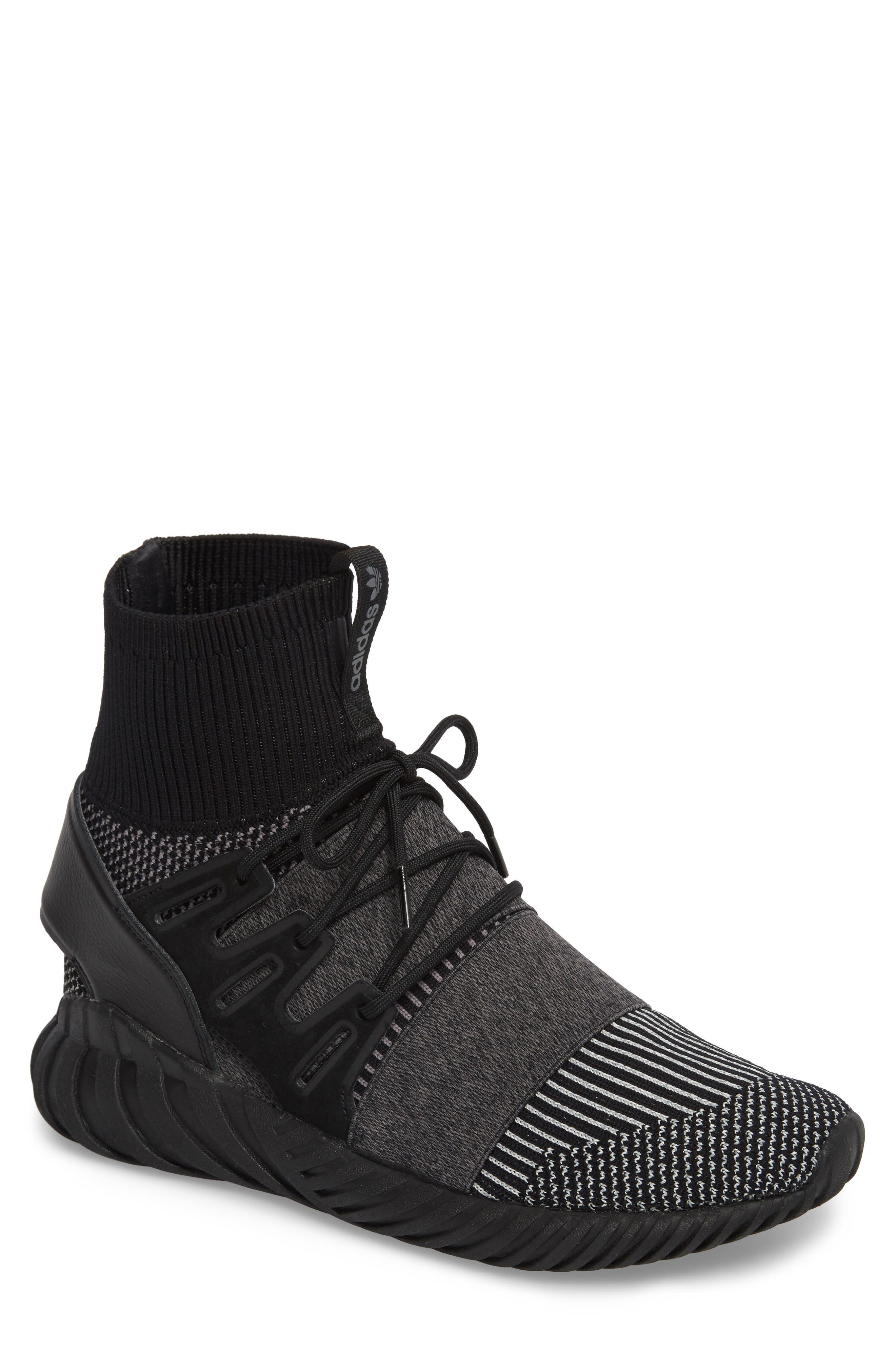 adidas Tubular Doom Primeknit Sneaker. CORE BLACK/ CORE BLACK/ GREY ...