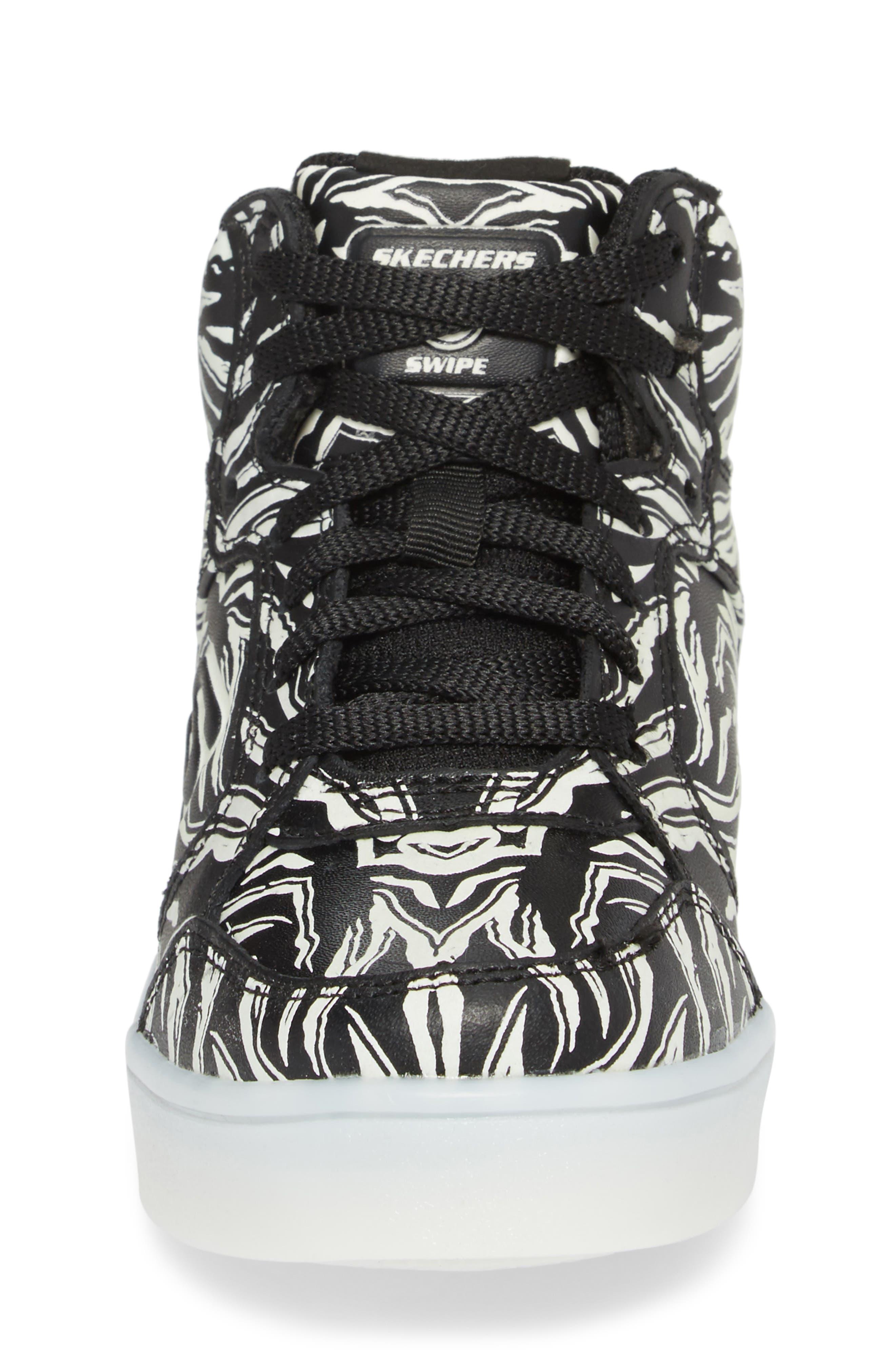 Energy Lights Glow in the Dark Sneaker,                             Alternate thumbnail 7, color,                             Black