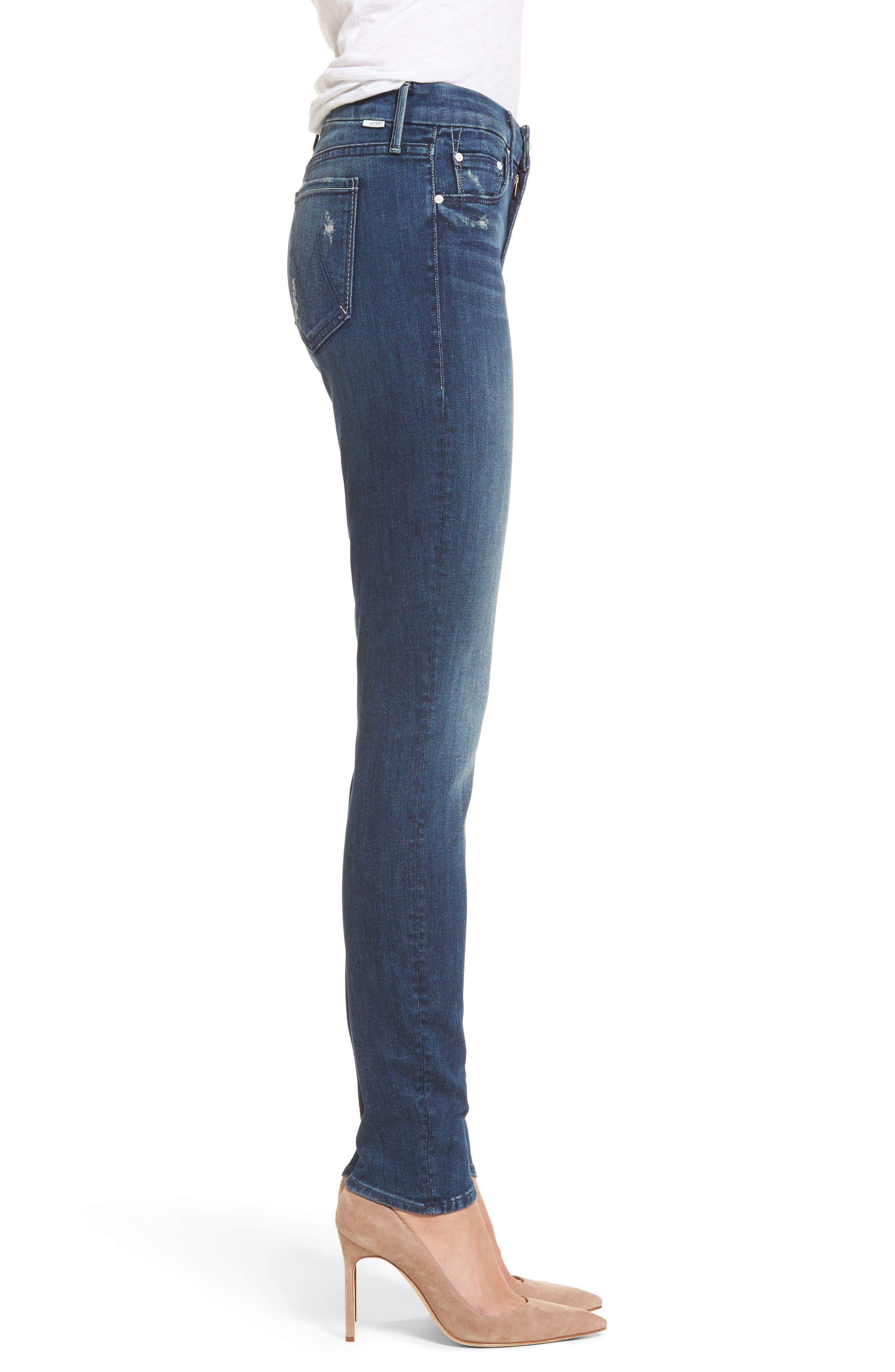 The Looker High Waist Skinny Jeans,                             Alternate thumbnail 3, color,                             Dark Graffiti