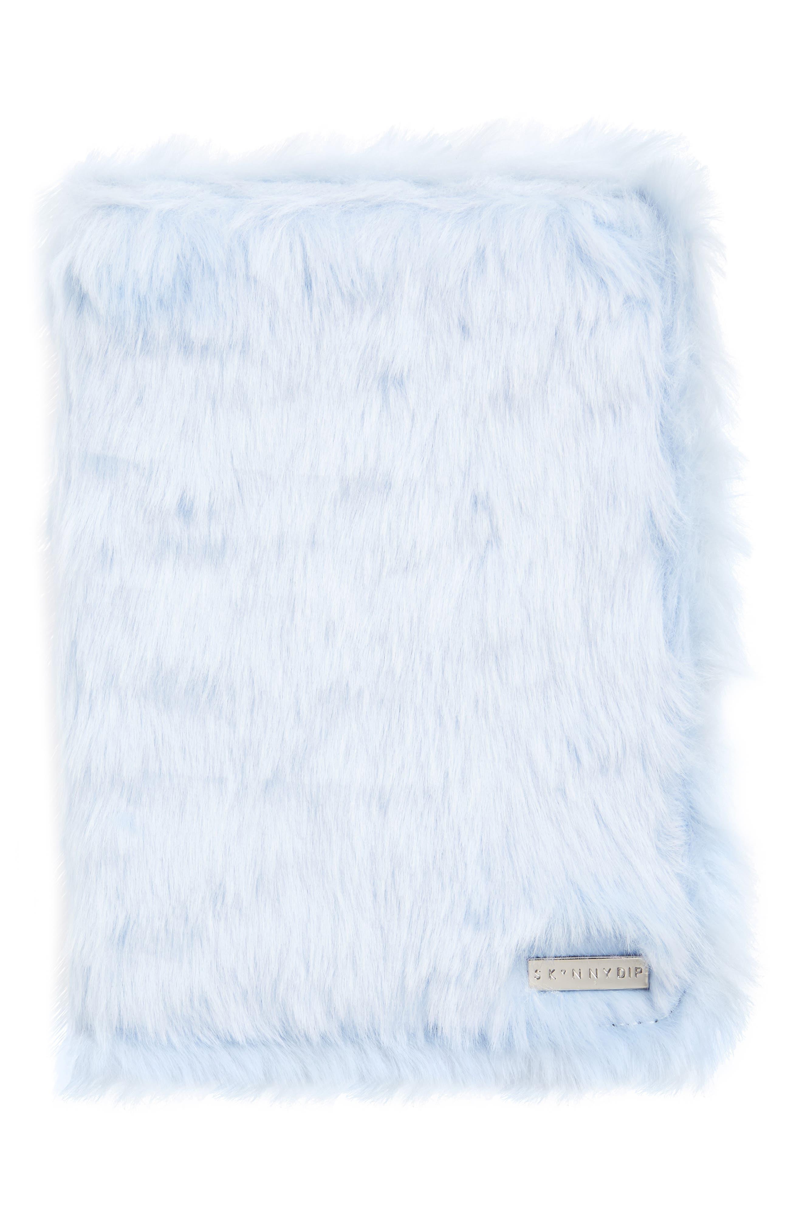 Skinny Dip Sky Blue Furry iPad Mini Folio