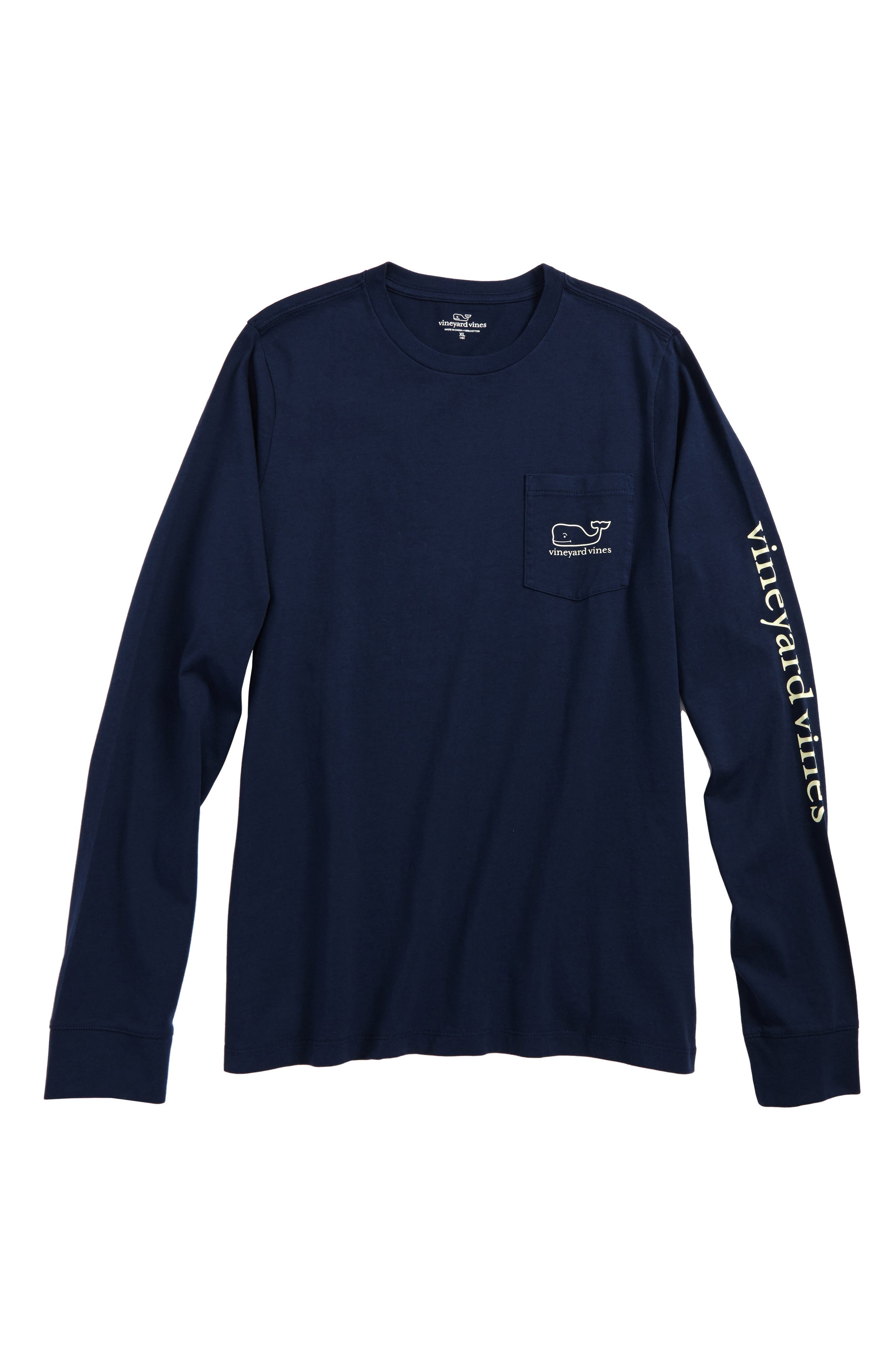 vineyard vines New Year's Scene Whale Pocket T-Shirt (Big Boys)