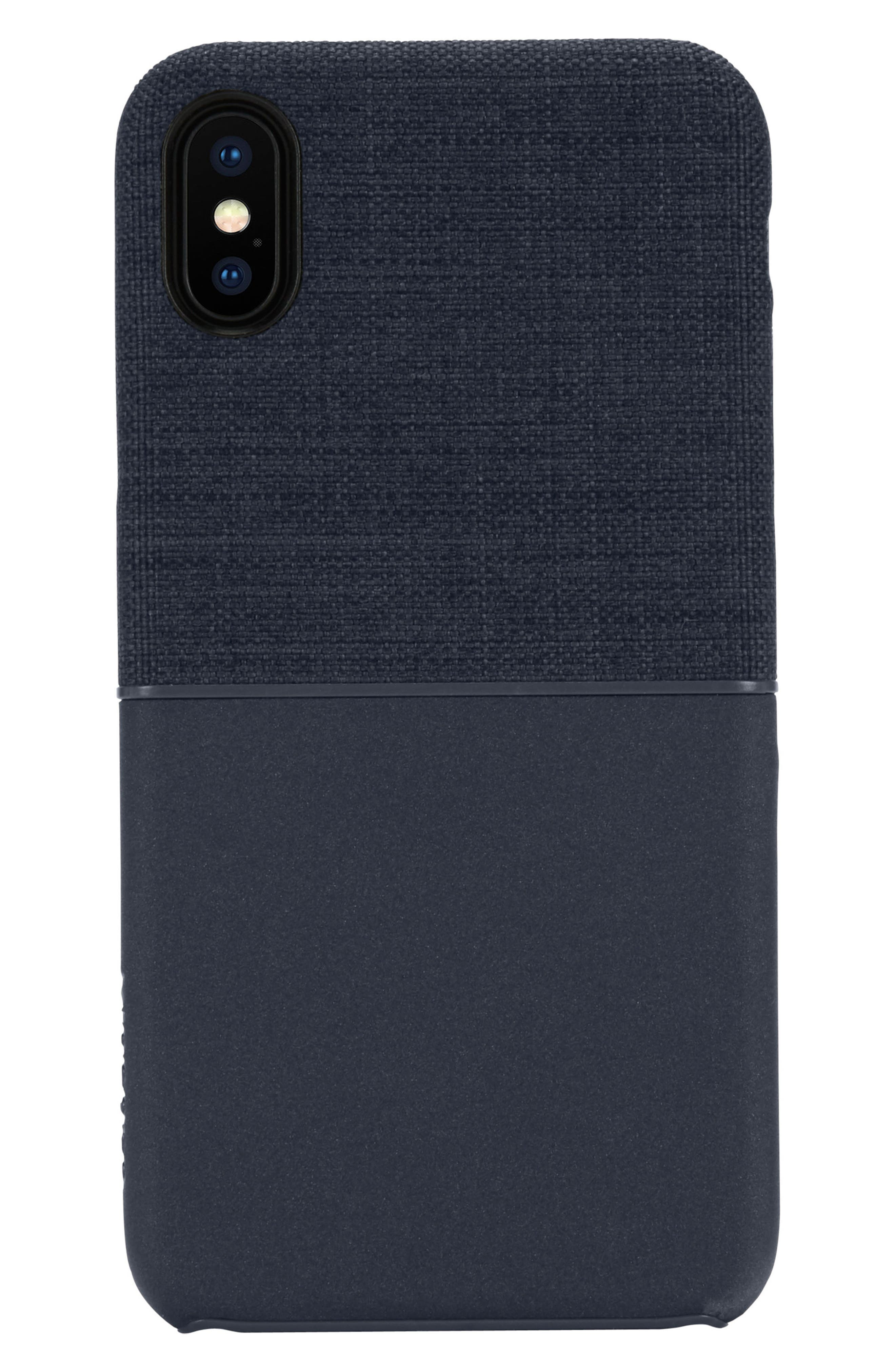 Textured Snap iPhone X Case,                         Main,                         color, Navy