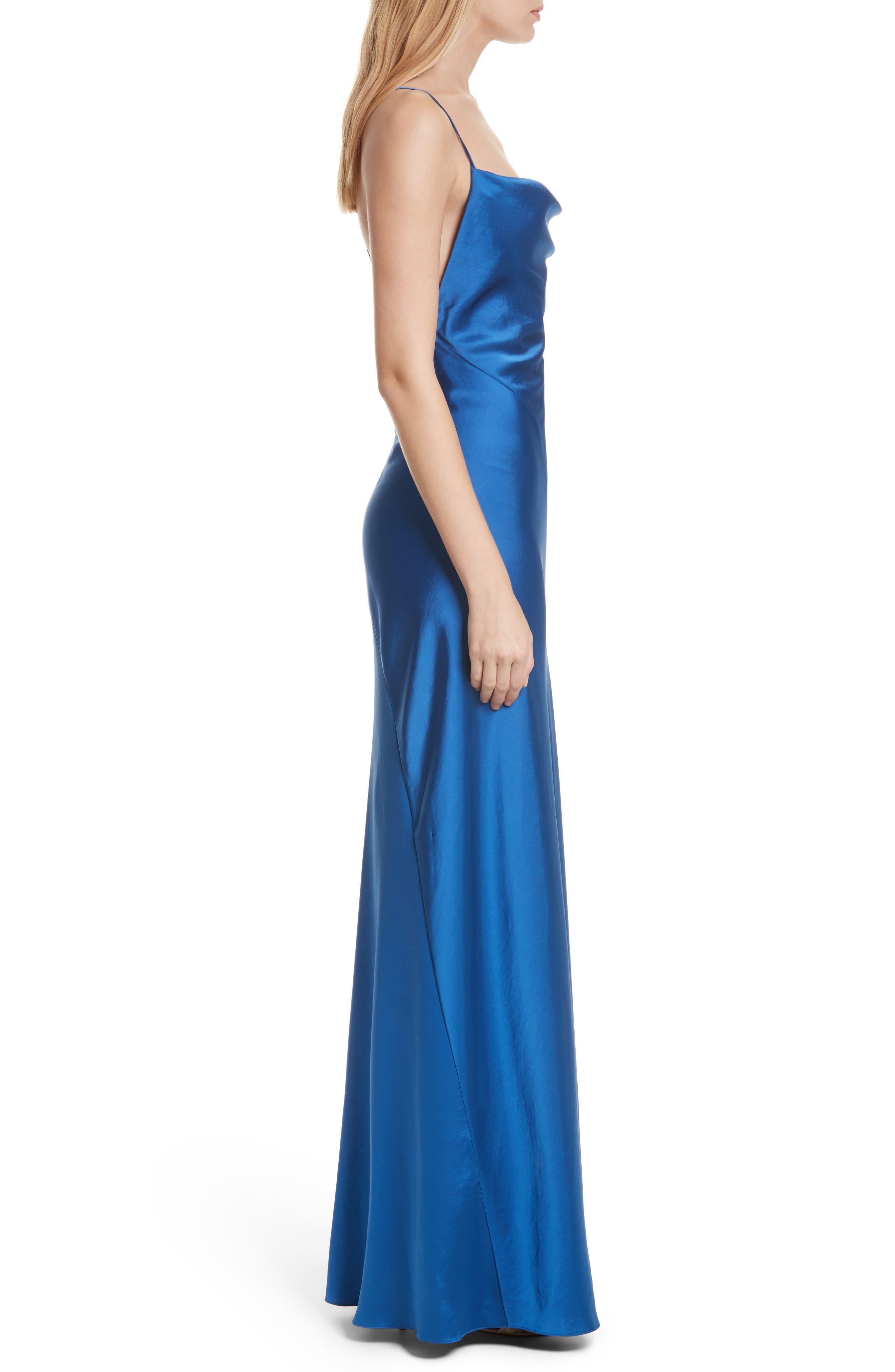 Diane von Furstenberg Open Back A-Line Gown,                             Alternate thumbnail 3, color,                             Cove